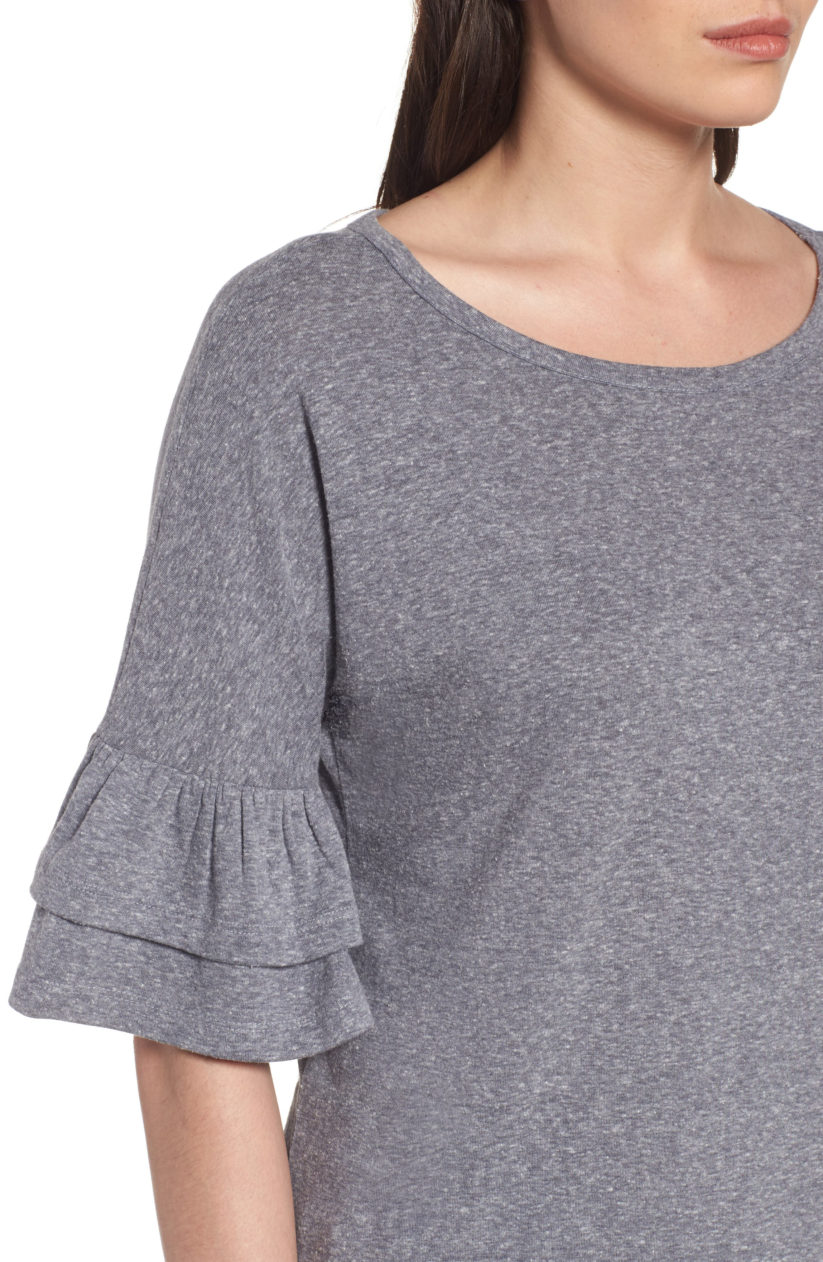 Tiered Bell Sleeve Tee,                             Alternate thumbnail 27, color,