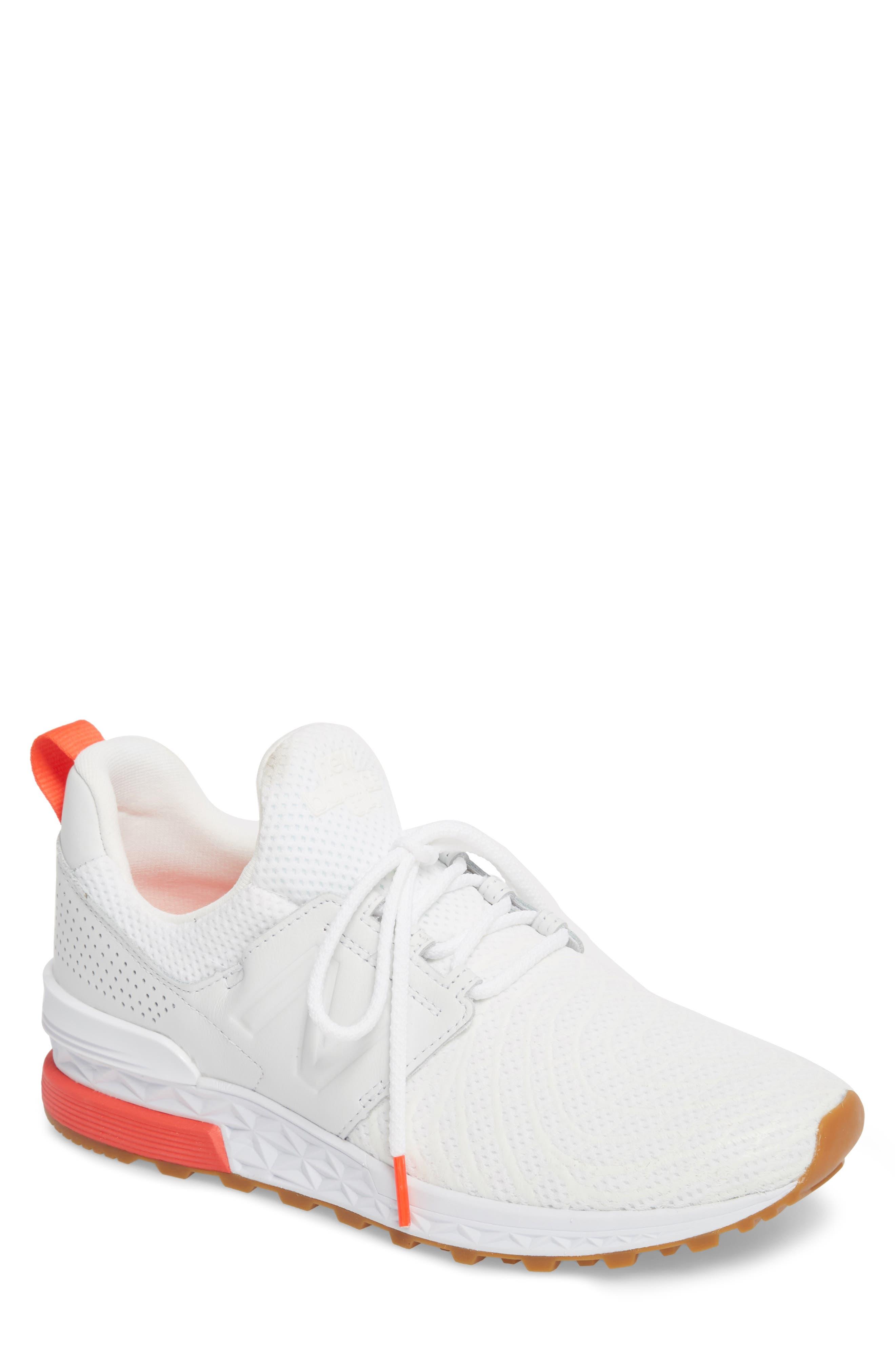 574 Sport Sneaker,                             Main thumbnail 1, color,                             WHITE