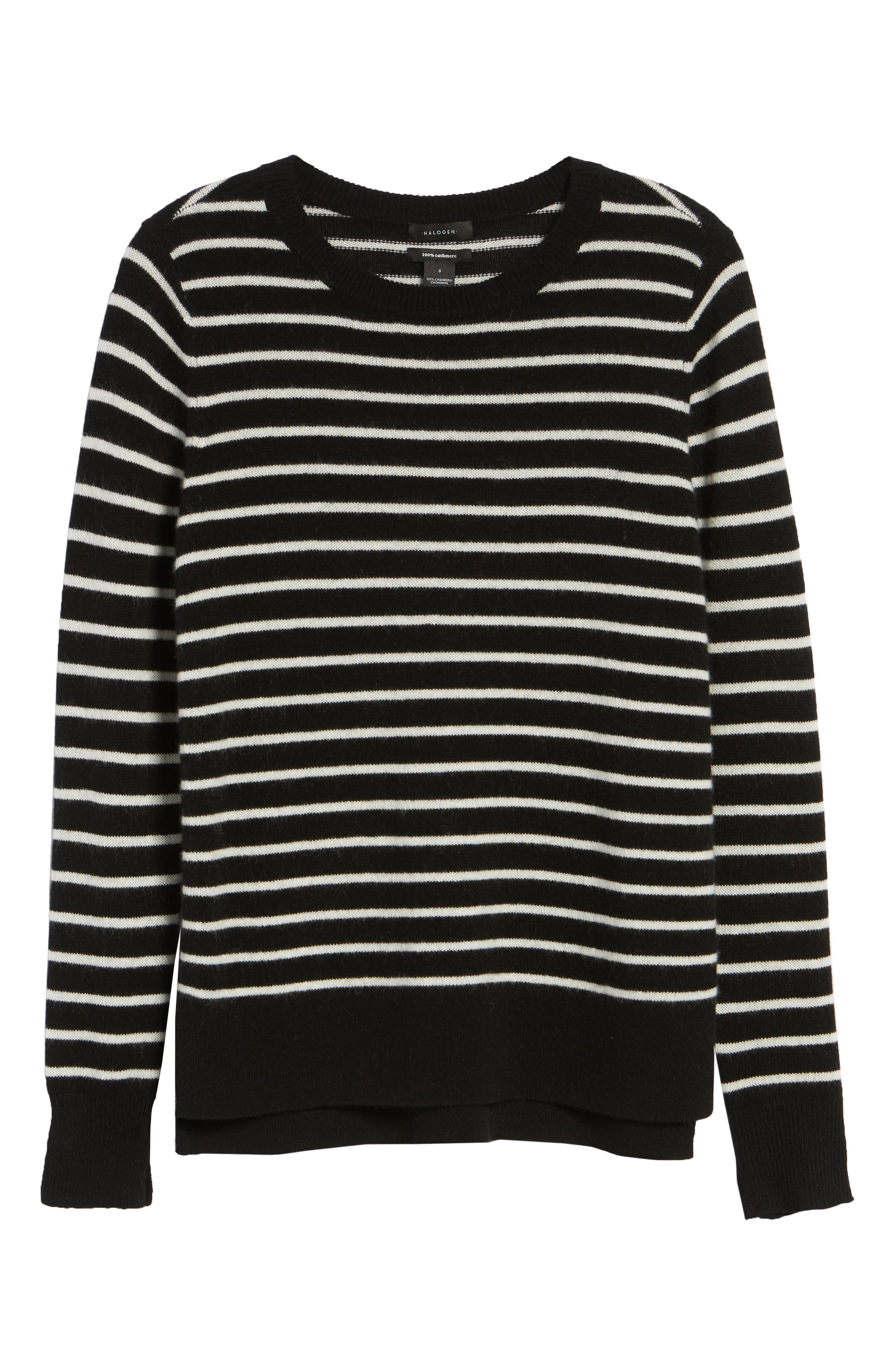 HALOGEN<SUP>®</SUP>,                             Crewneck Cashmere Sweater,                             Alternate thumbnail 6, color,                             002
