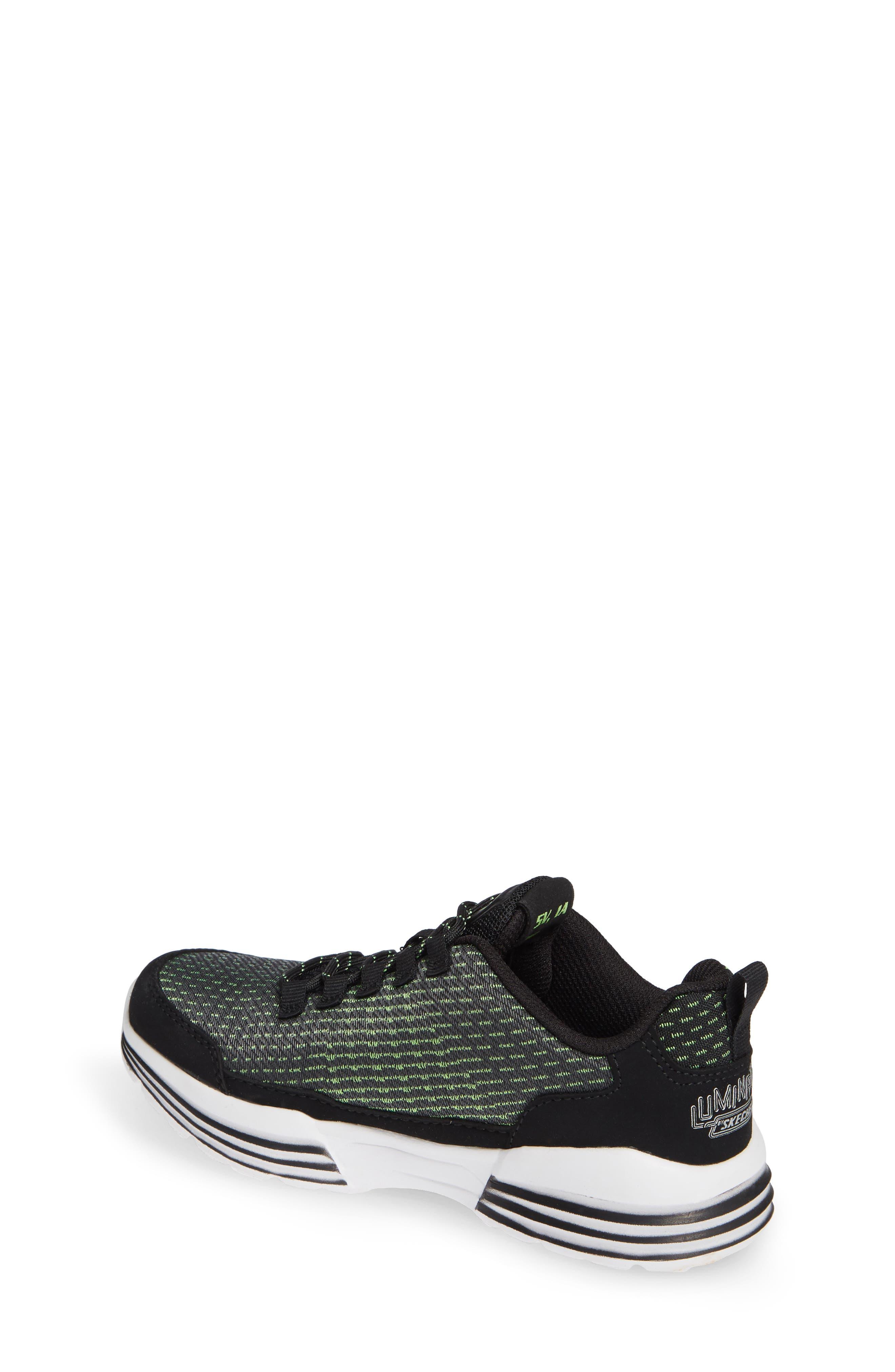 Luminators Sneaker,                             Alternate thumbnail 2, color,                             BLACK/ LIME