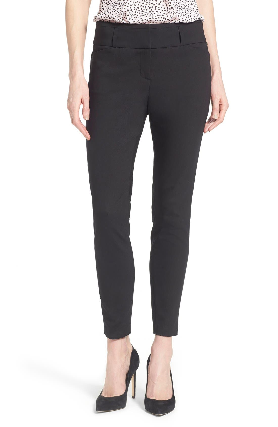 Compression Front Ankle Pants, Main, color, 001