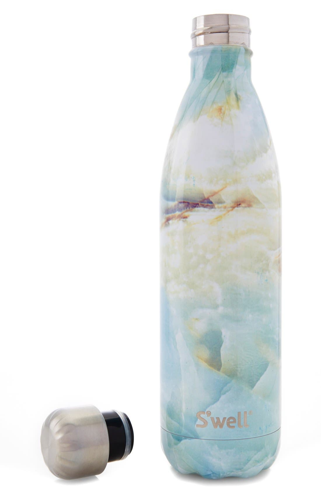 Elements Collection - Opal Marble Stainless Steel Water Bottle,                             Alternate thumbnail 6, color,                             900