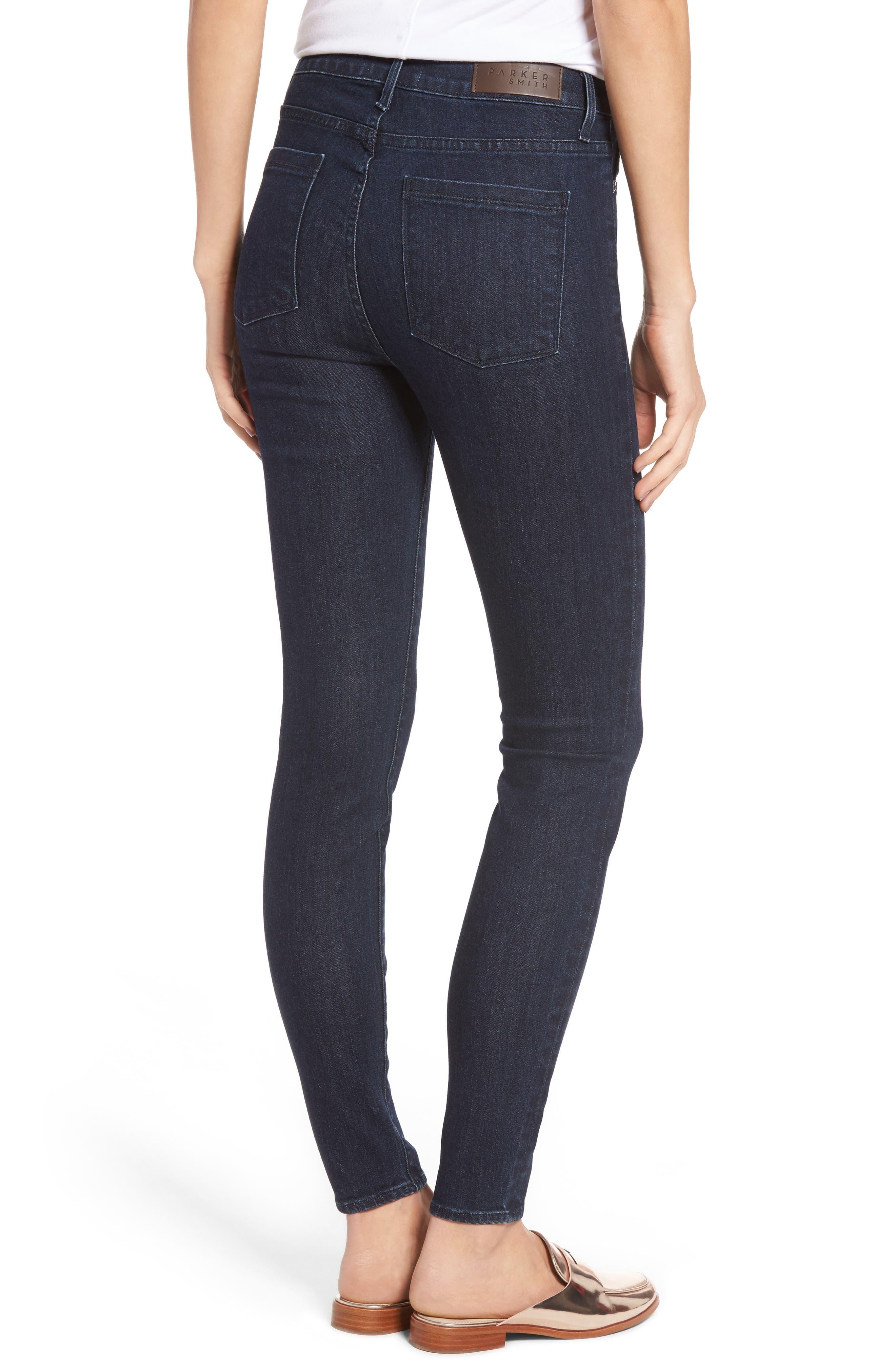 Bombshell High Waist Stretch Skinny Jeans,                             Alternate thumbnail 5, color,
