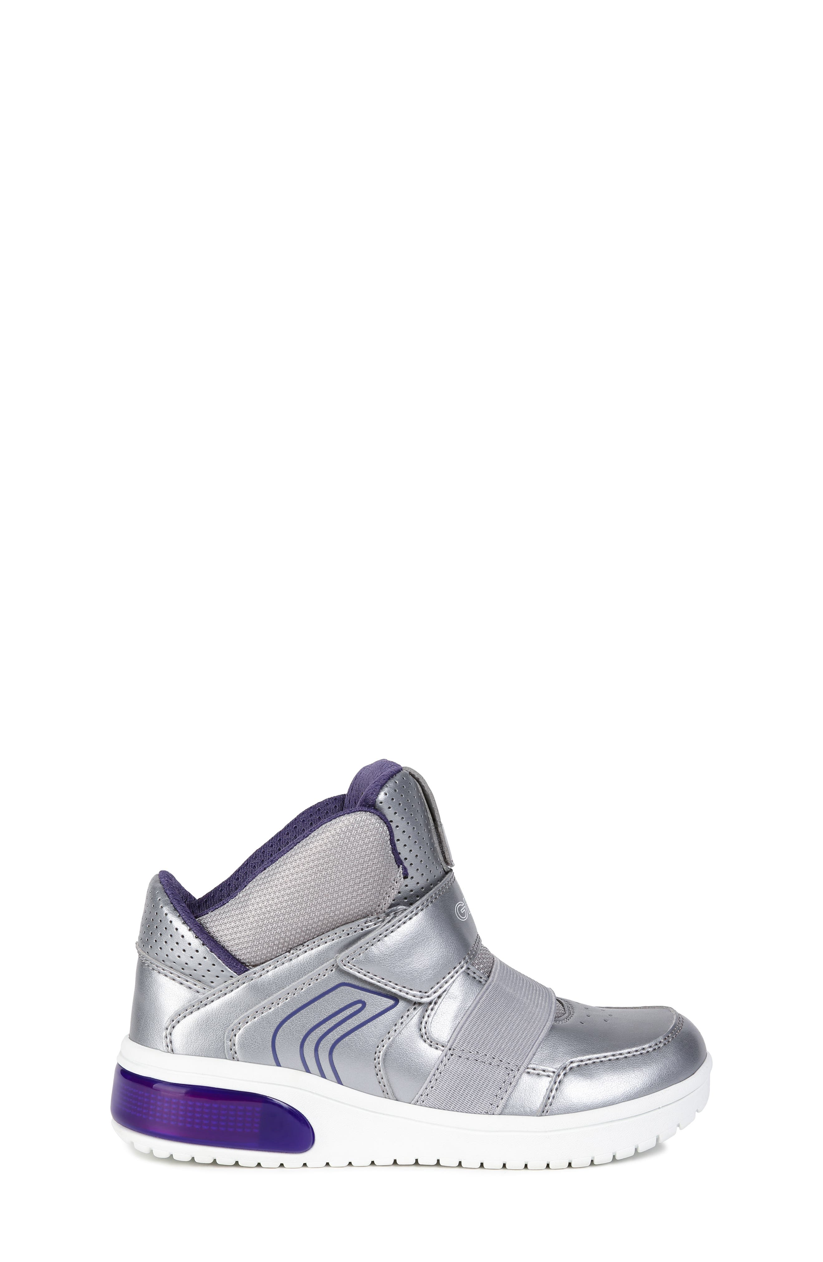 Xled Light Up Sneaker,                             Alternate thumbnail 3, color,                             SILVER/ VIOLET