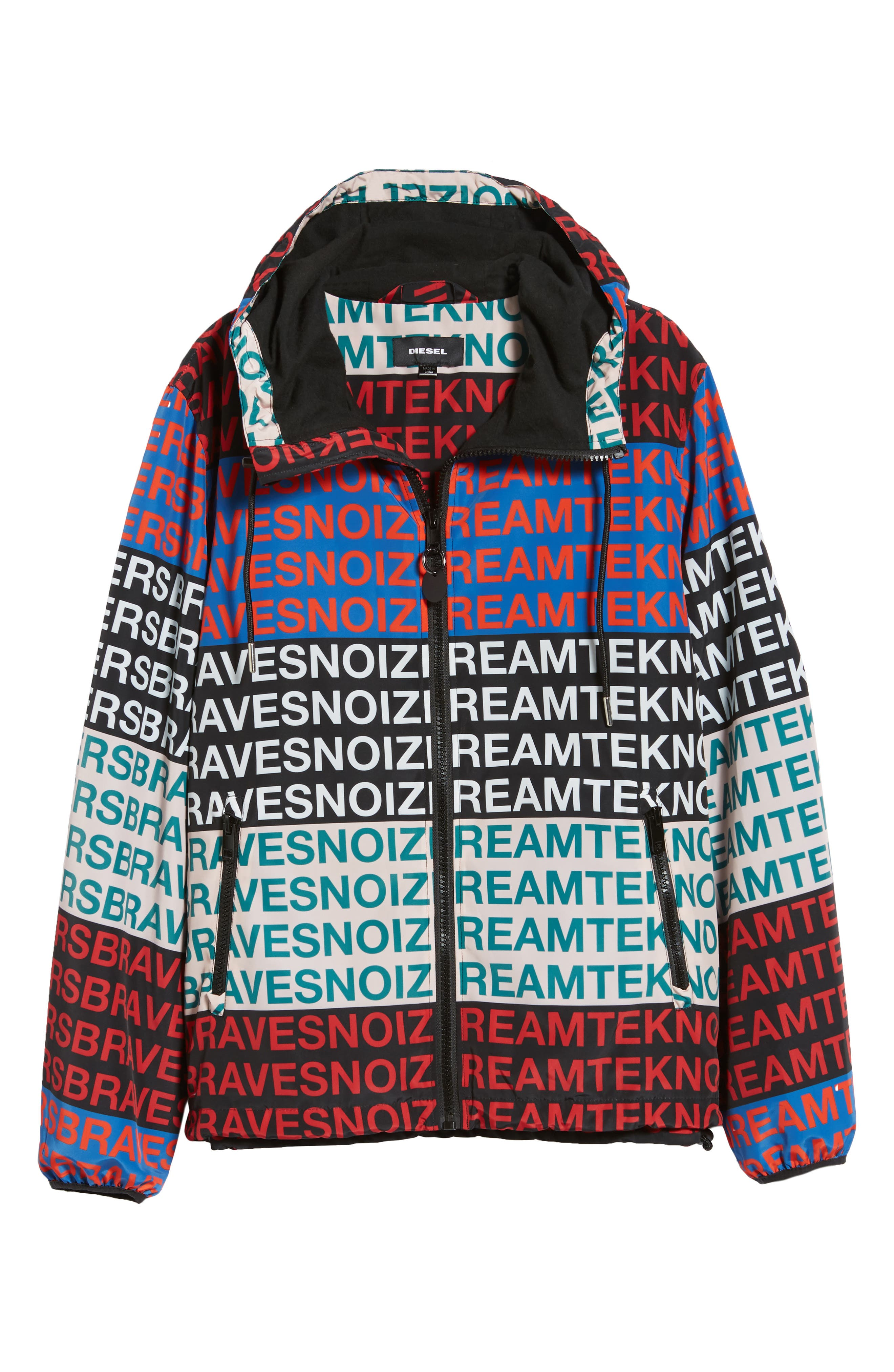 J-Walsh Hooded Jacket,                             Alternate thumbnail 6, color,                             010