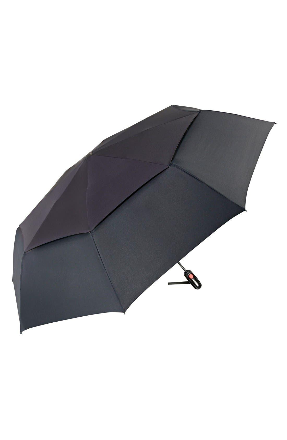 'Xtreme Duomatic' Umbrella,                             Main thumbnail 1, color,                             BLACK