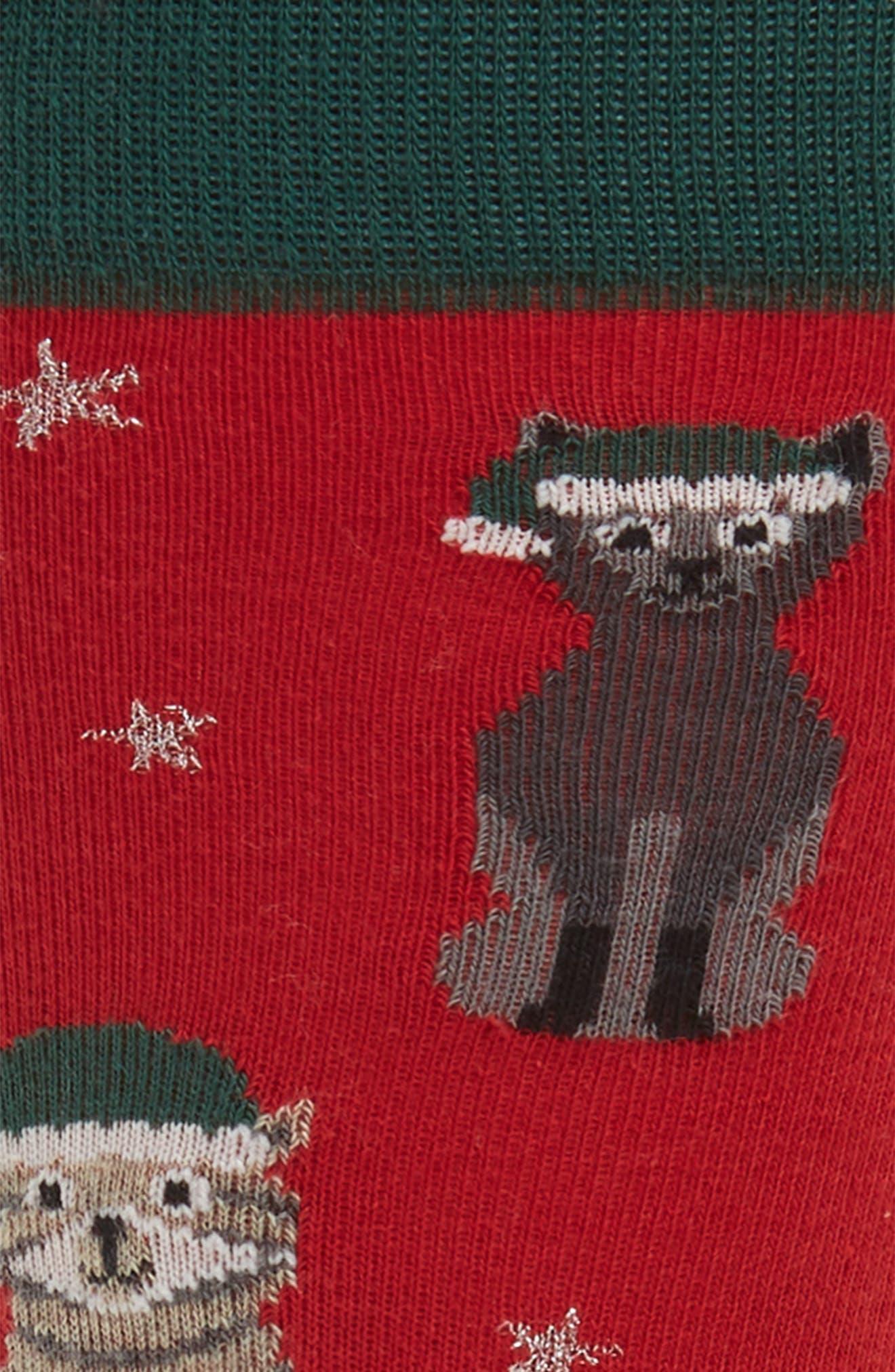 Holiday Cat Socks,                             Alternate thumbnail 2, color,                             301