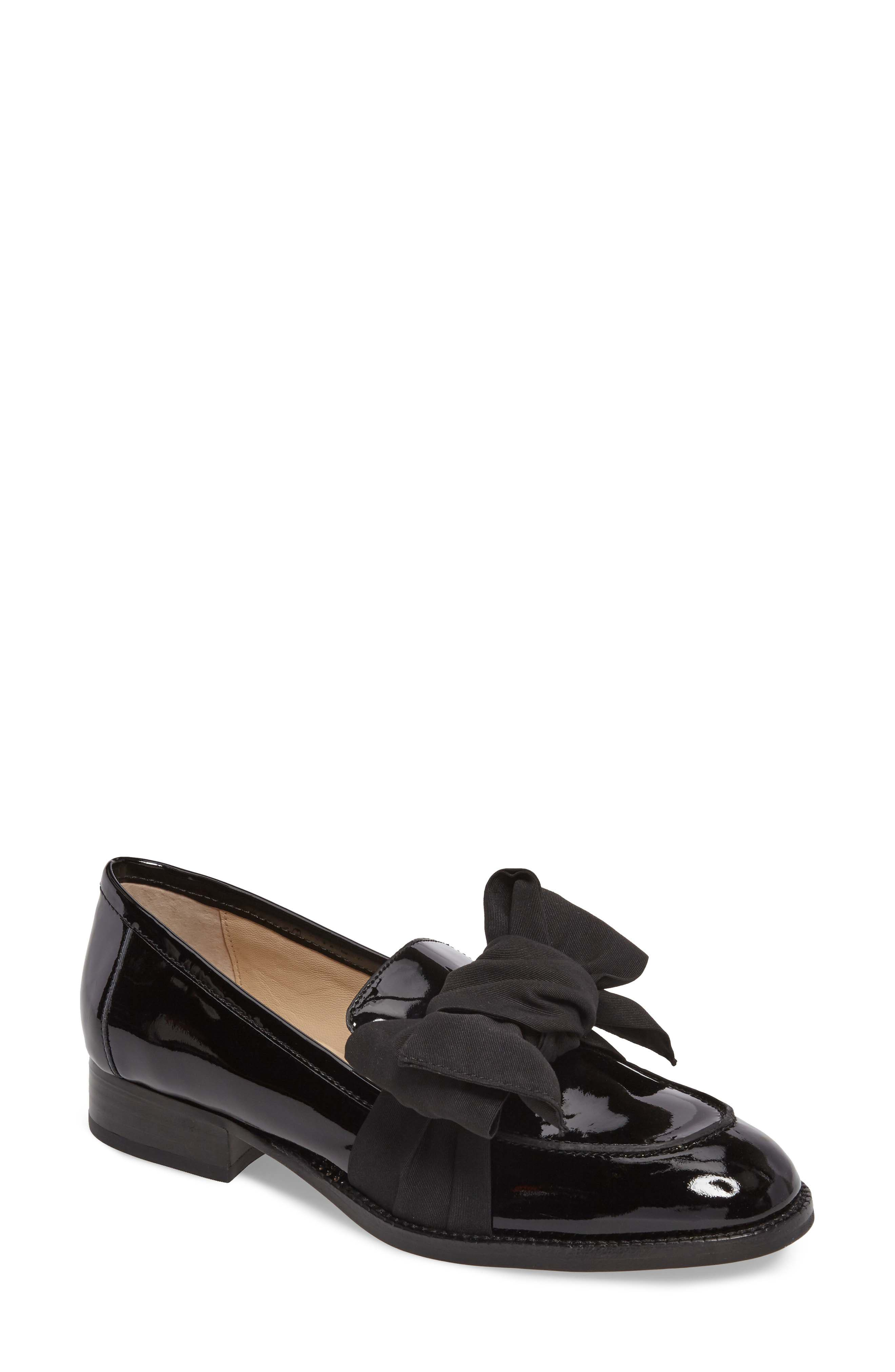 BOTKIER,                             Violet Bow Loafer,                             Main thumbnail 1, color,                             BLACK PATENT LEATHER