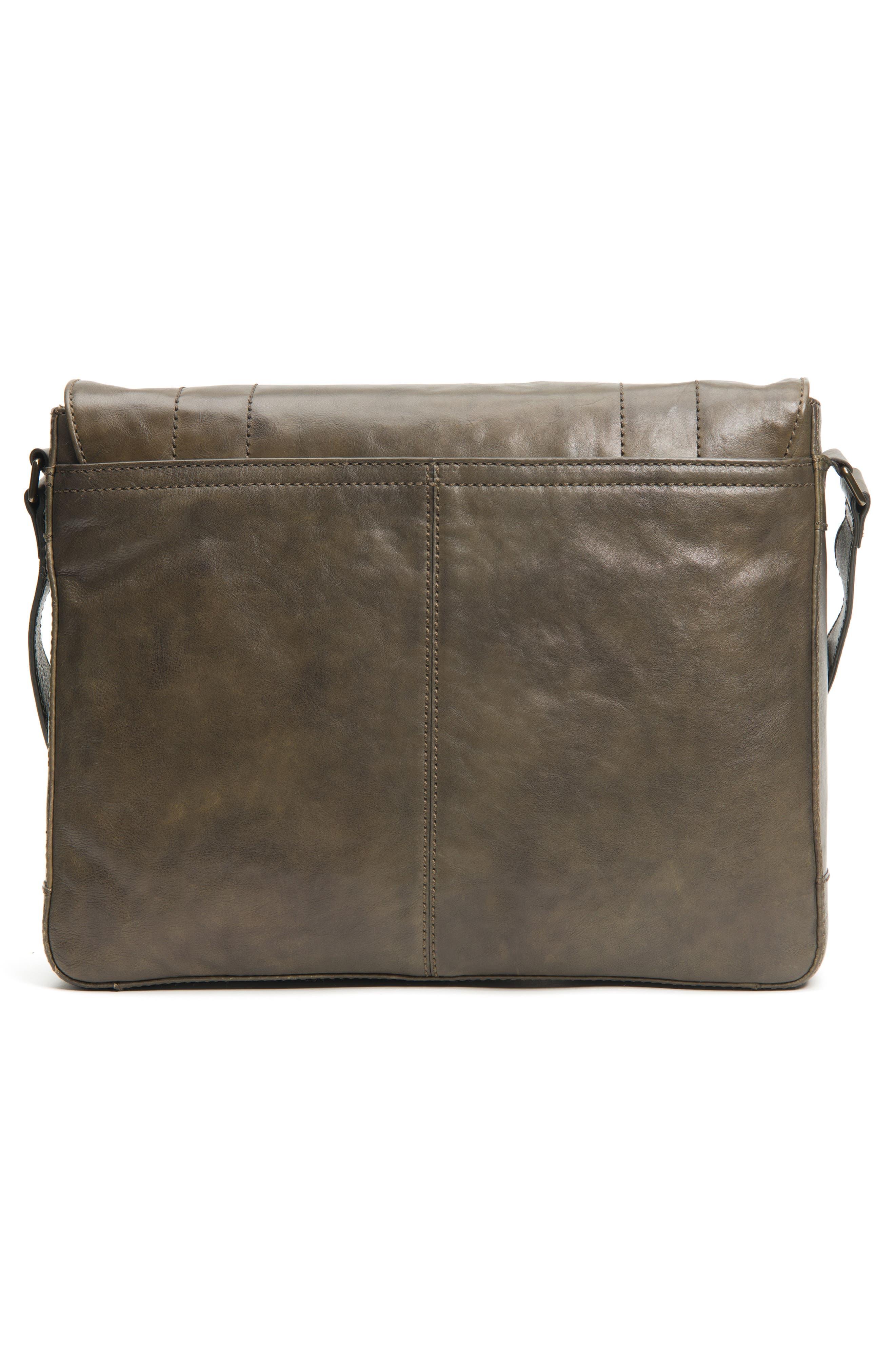 'Oliver' Leather Messenger Bag,                             Alternate thumbnail 3, color,                             311