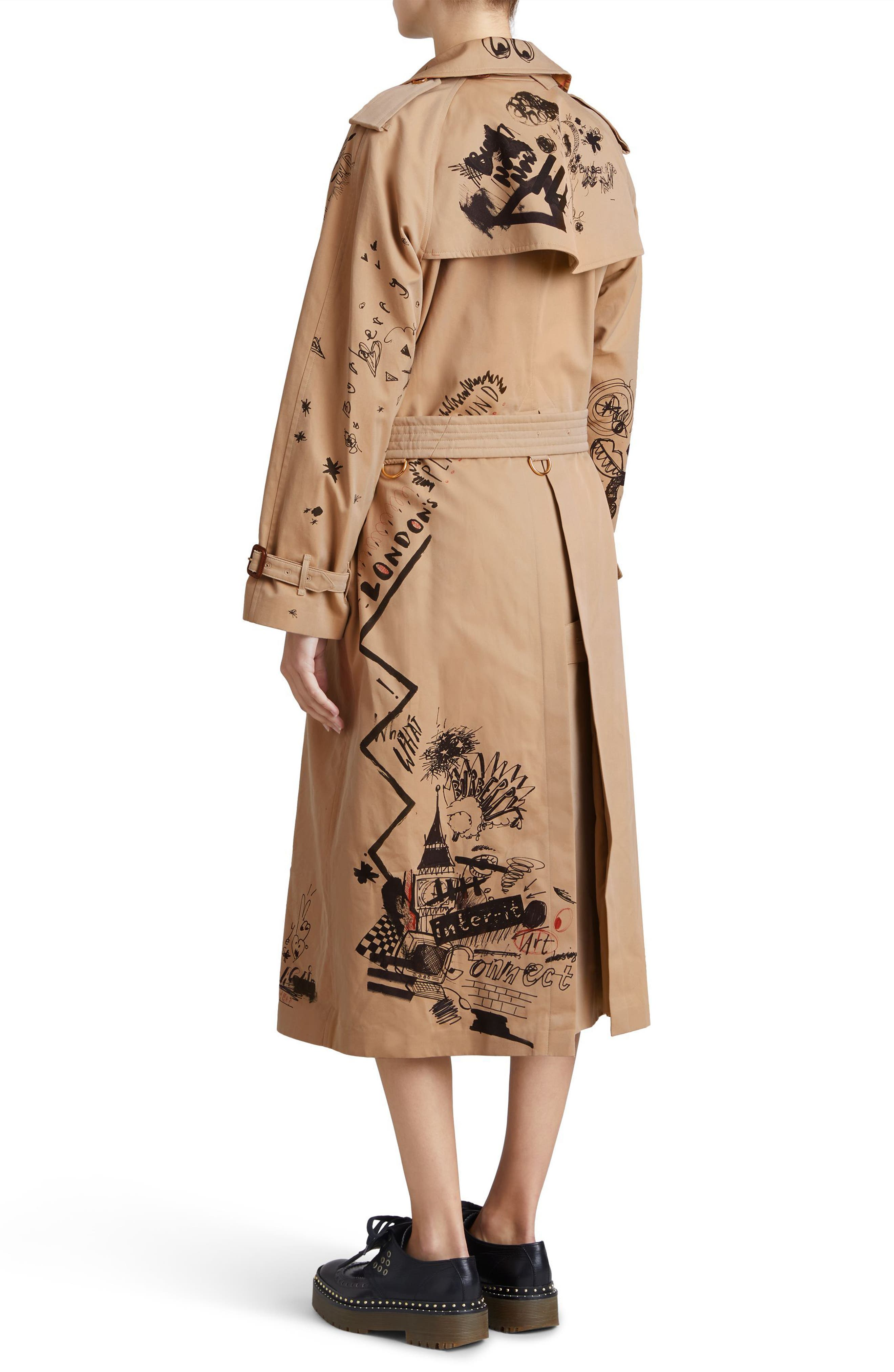 Eastheath Embellished Trench Coat,                             Alternate thumbnail 7, color,                             205