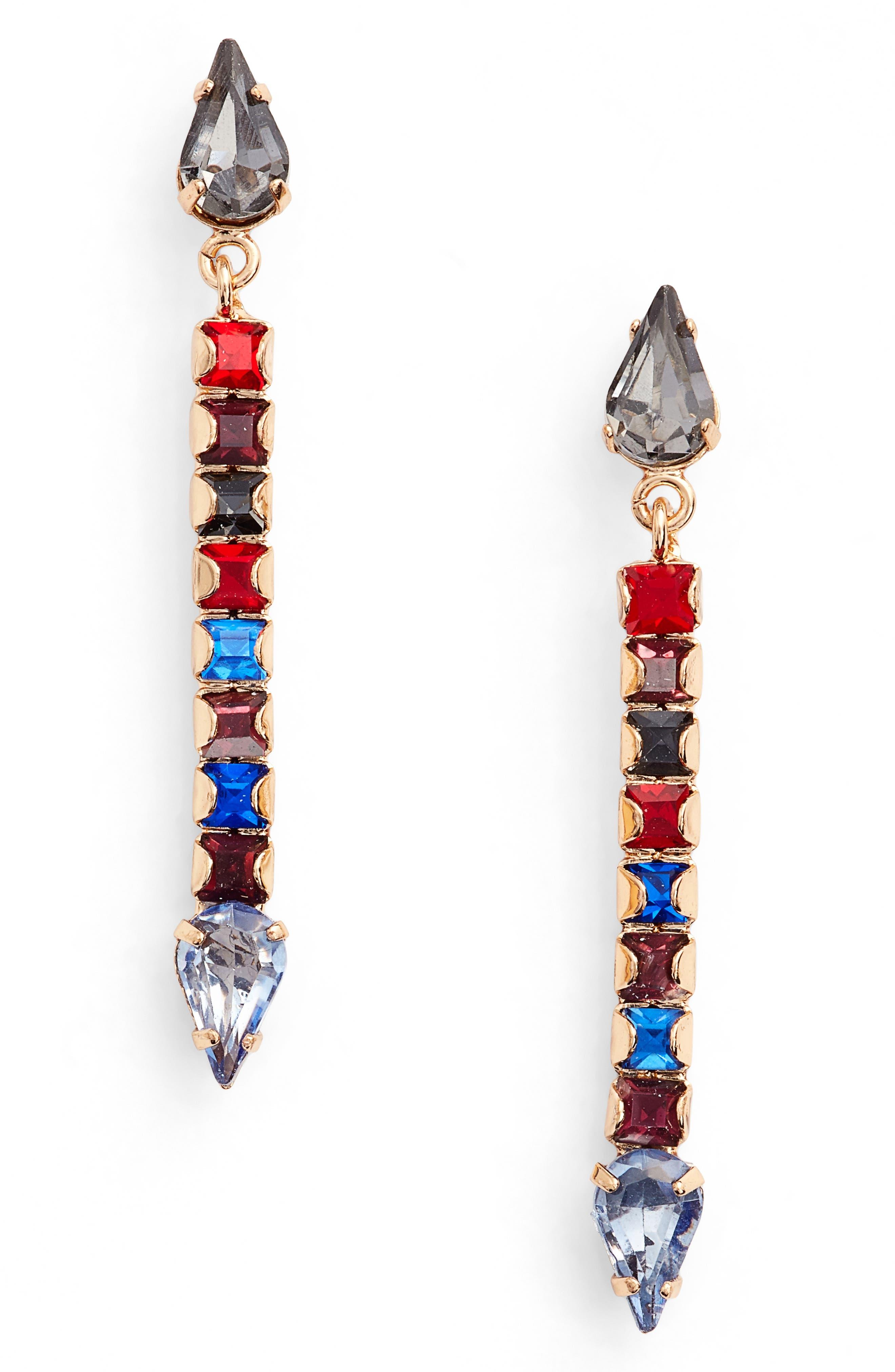 Clara Crystal Drop Earrings,                             Main thumbnail 2, color,