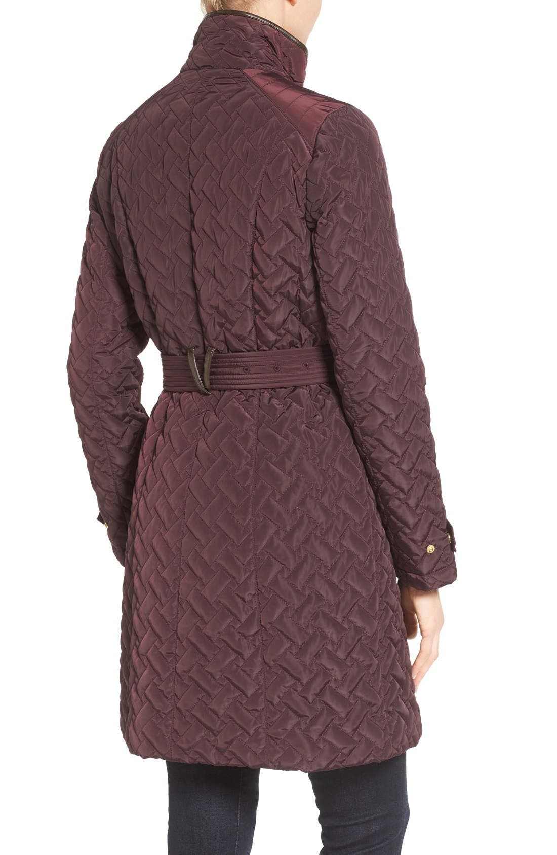 Belted Quilted Coat,                             Alternate thumbnail 13, color,