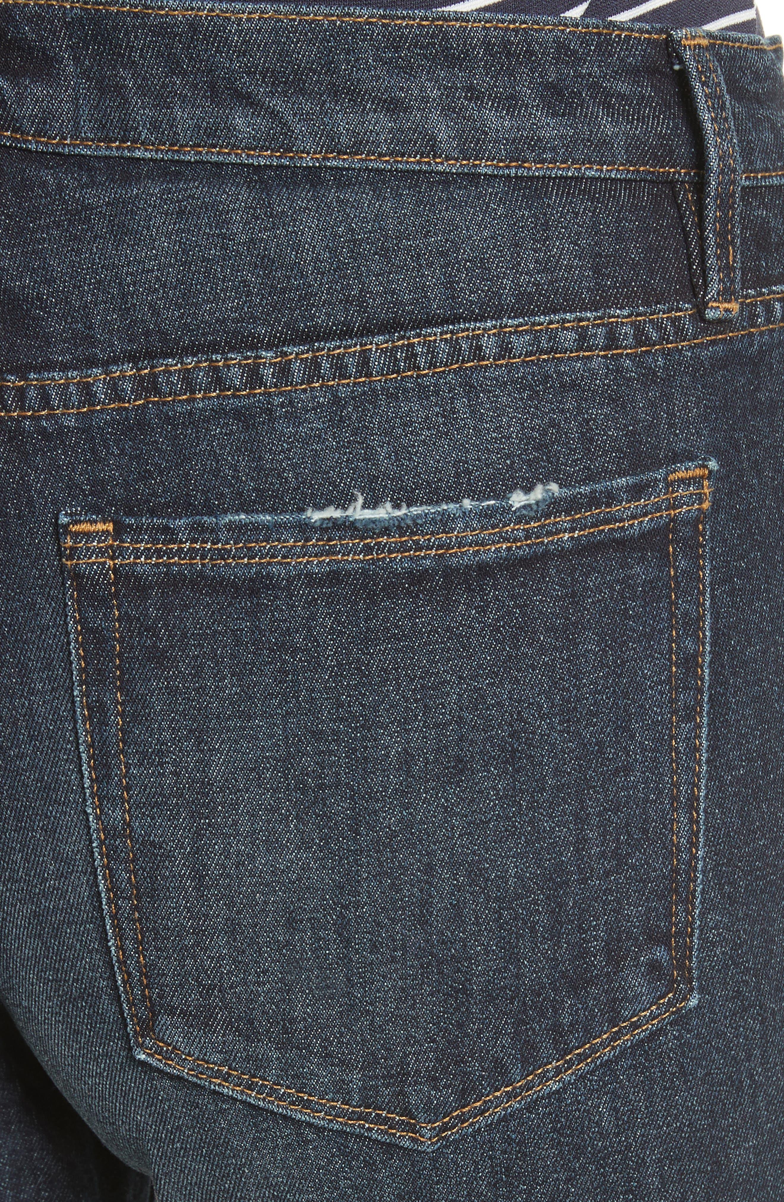 Straight Leg Ankle Jeans,                             Alternate thumbnail 4, color,                             402