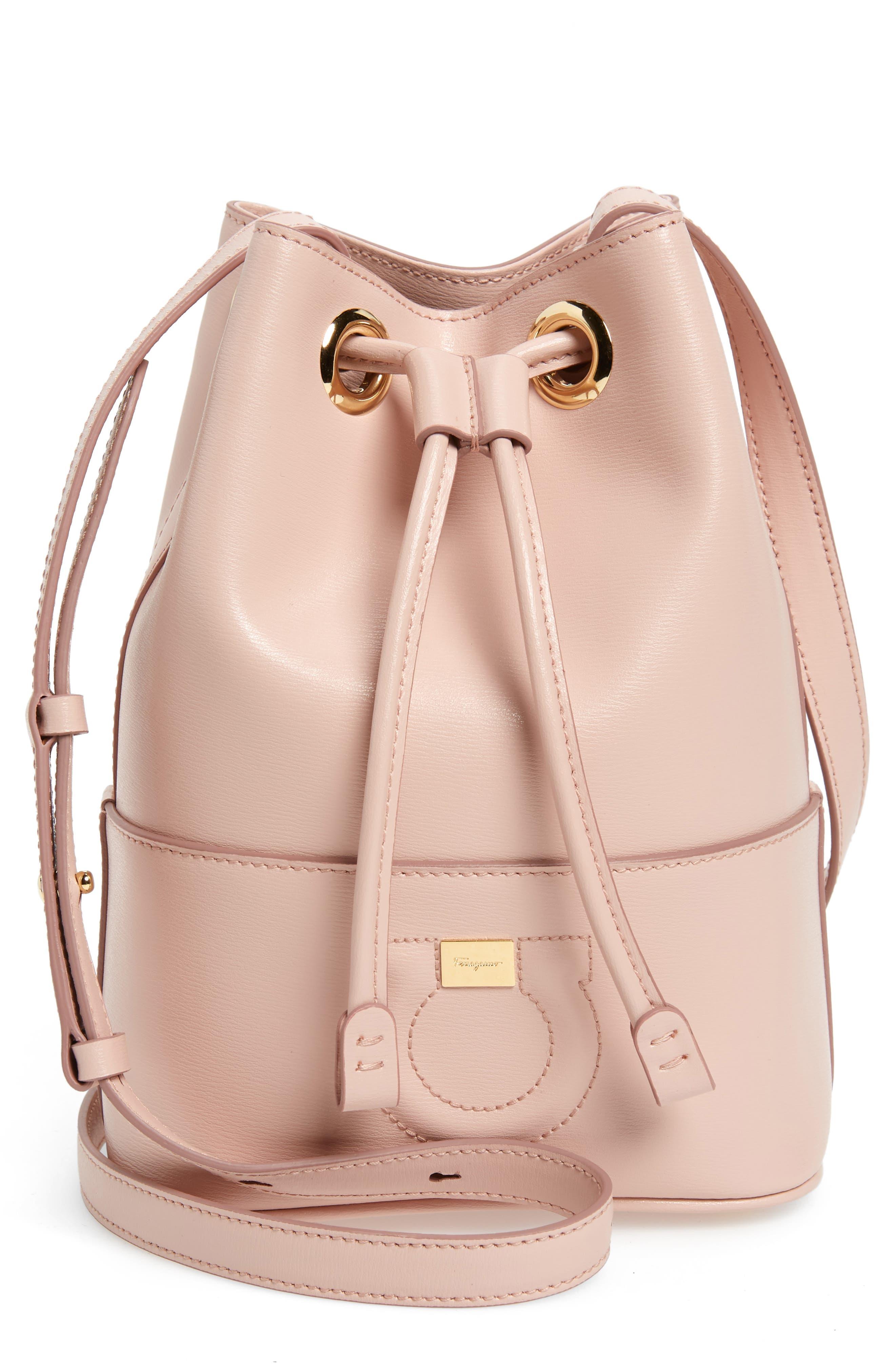 cc9d081eaf4 Salvatore Ferragamo City Quilted Gancio Bucket Bag - Pink In Bon Bon Pink