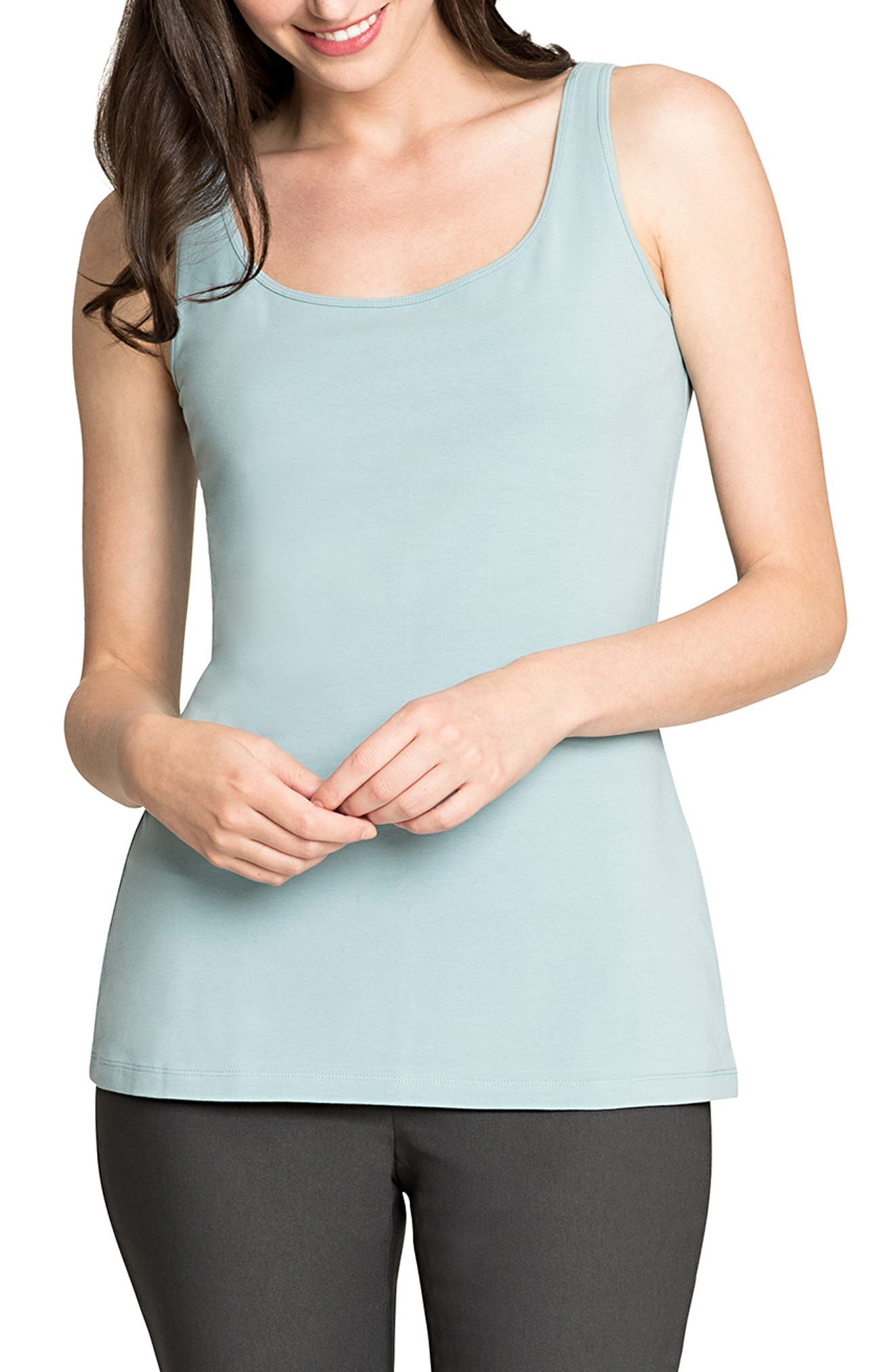 Perfect Scoop Tank,                             Main thumbnail 1, color,                             SEAFOAM