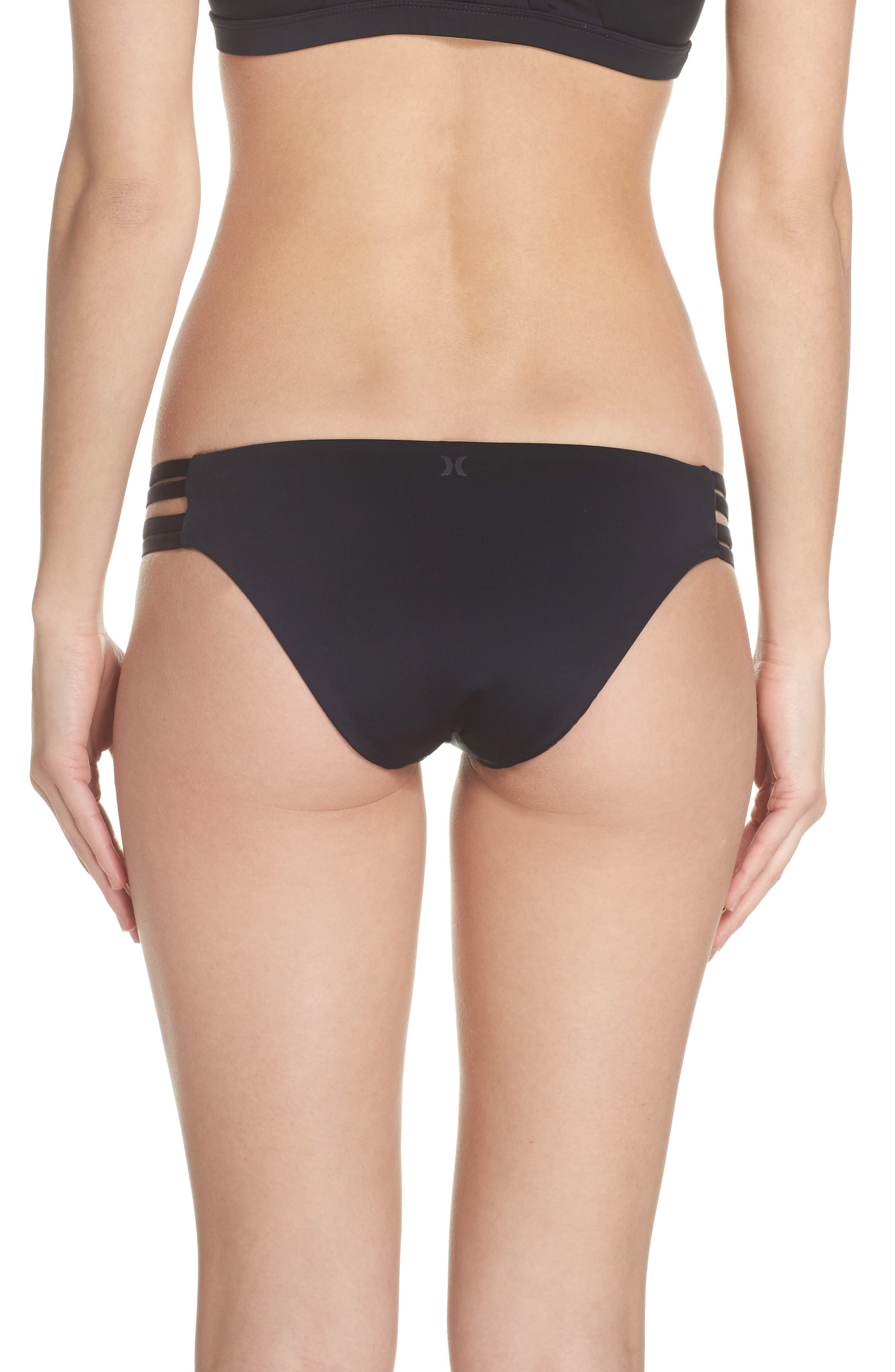 Quick Dry Max Surf Bikini Bottoms,                             Alternate thumbnail 2, color,                             BLACK