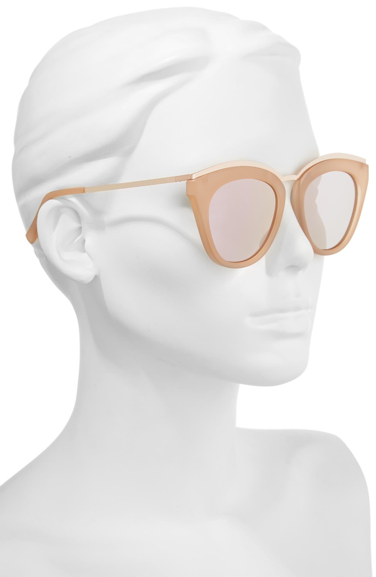 Eye Slay 52mm Cat Eye Sunglasses,                             Alternate thumbnail 4, color,