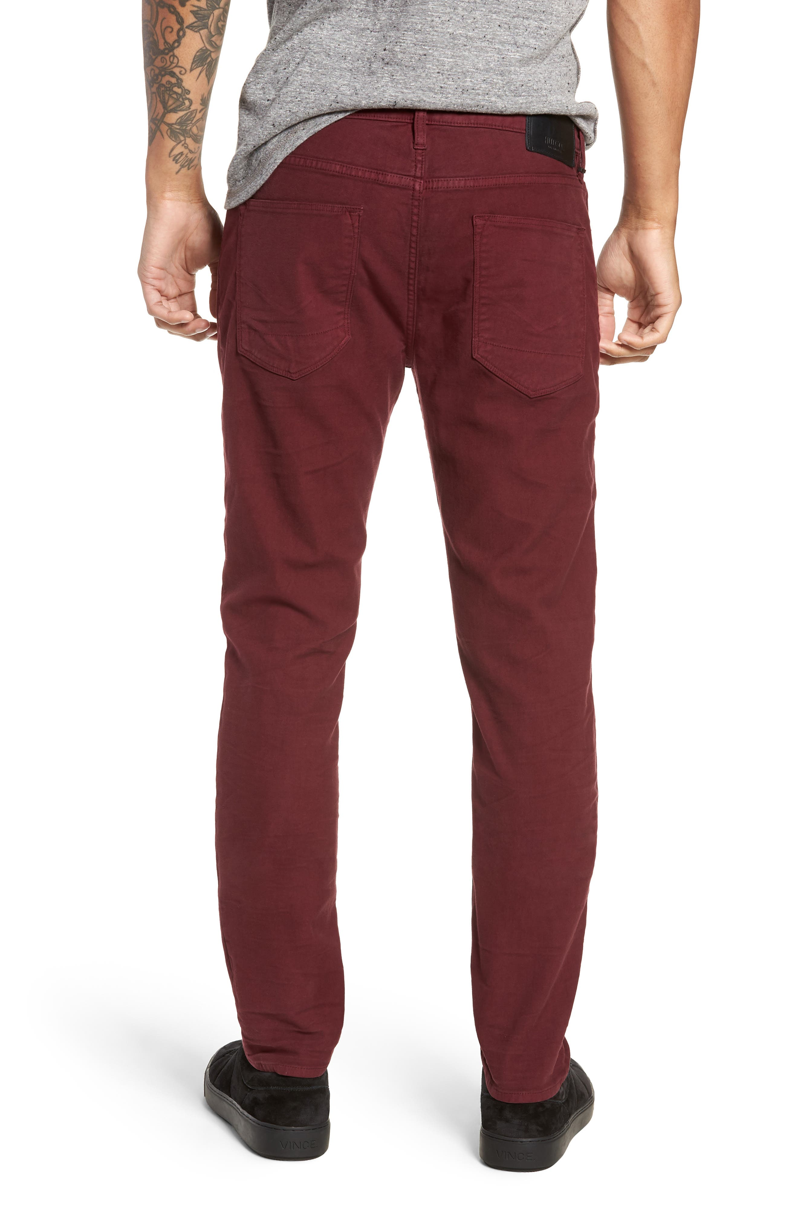 Axl Skinny Fit Twill Jeans,                             Alternate thumbnail 2, color,                             OXBLOOD