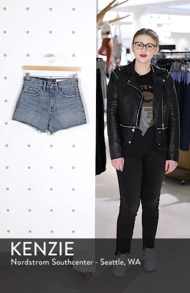 High Waist Cutoff Denim Shorts, sales video thumbnail
