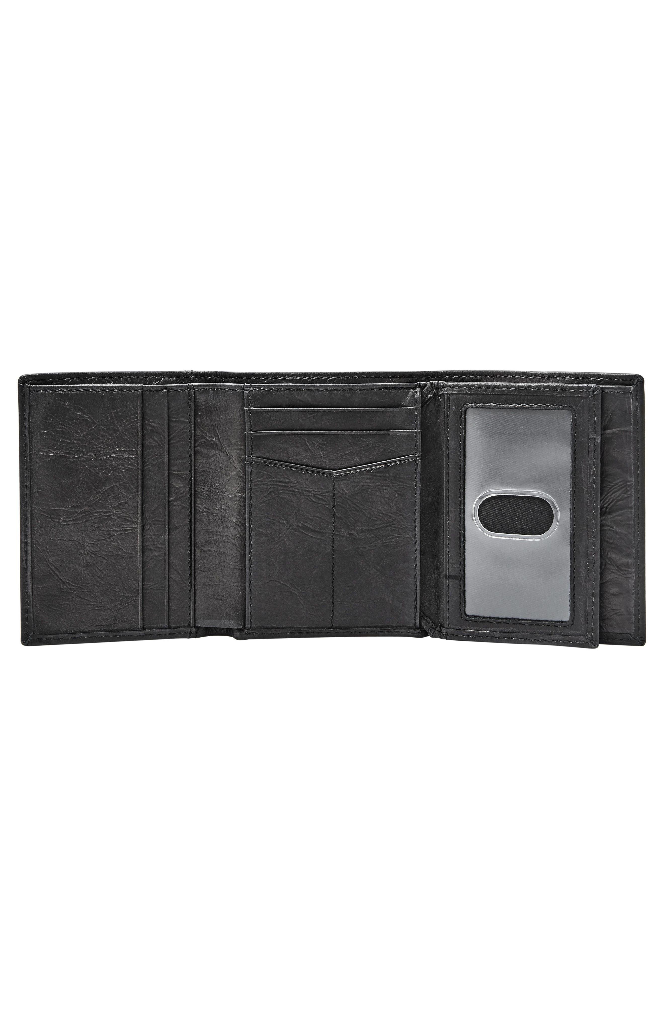 Neel Leather Wallet,                             Alternate thumbnail 3, color,                             BLACK