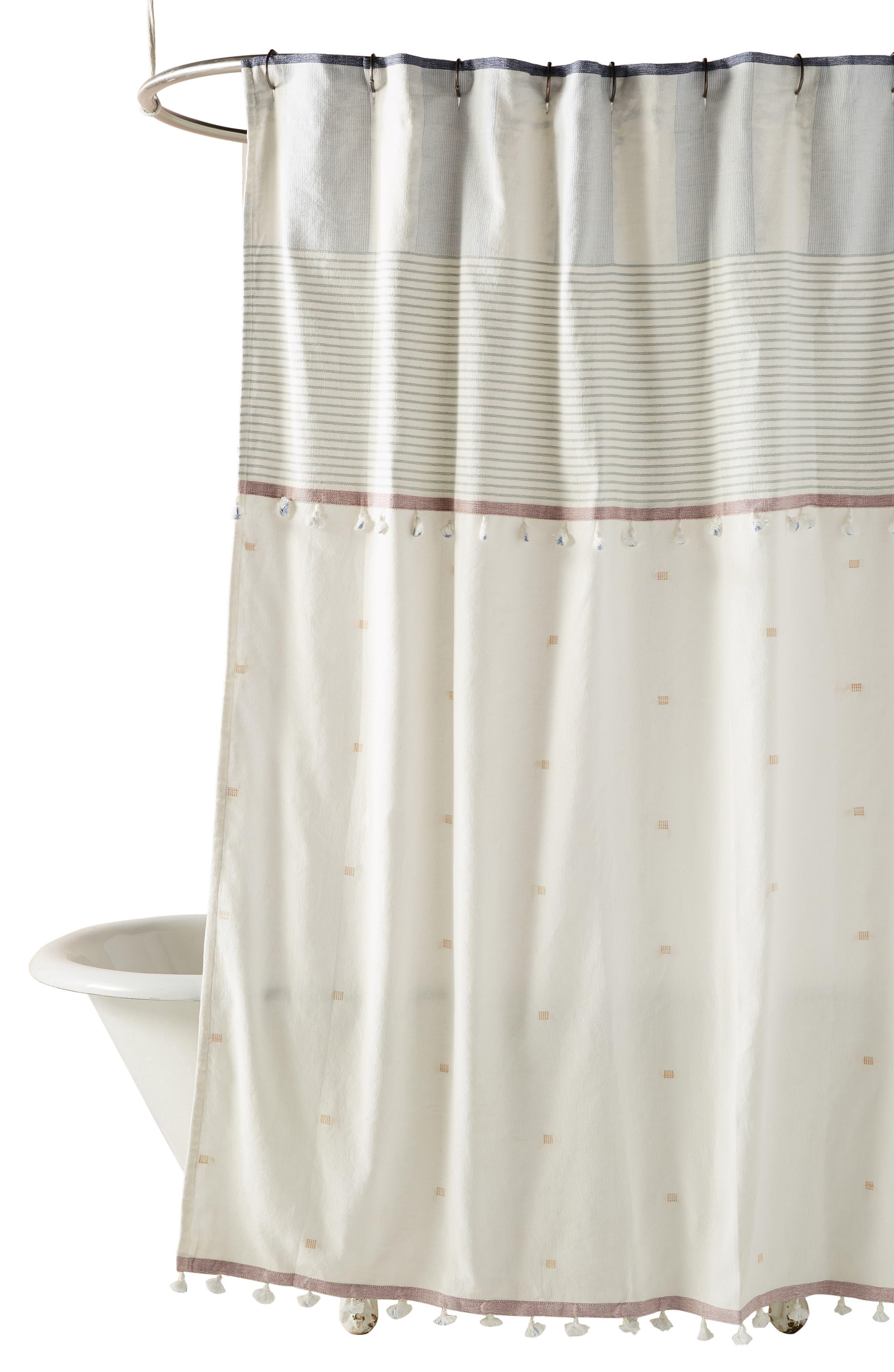 Rayas Shower Curtain,                             Alternate thumbnail 3, color,                             BLUE
