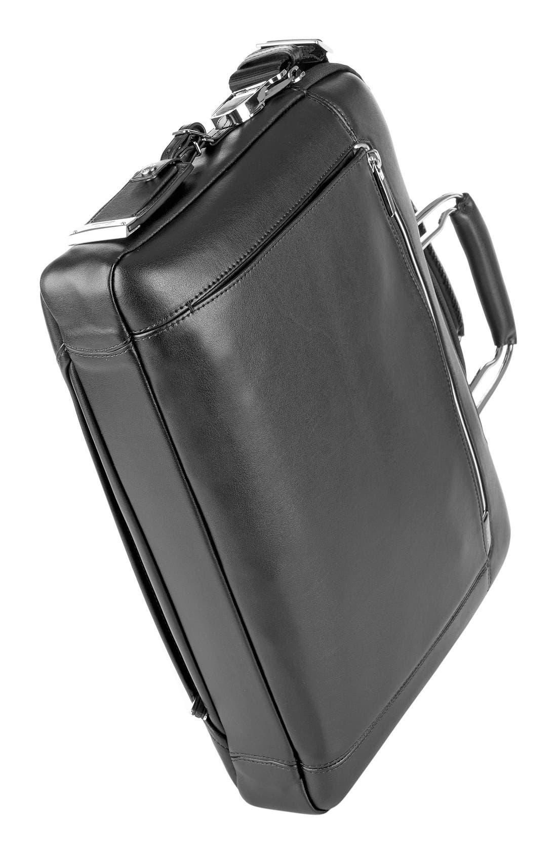 'Arrivé - Hamilton' Leather Briefcase,                             Alternate thumbnail 5, color,                             007