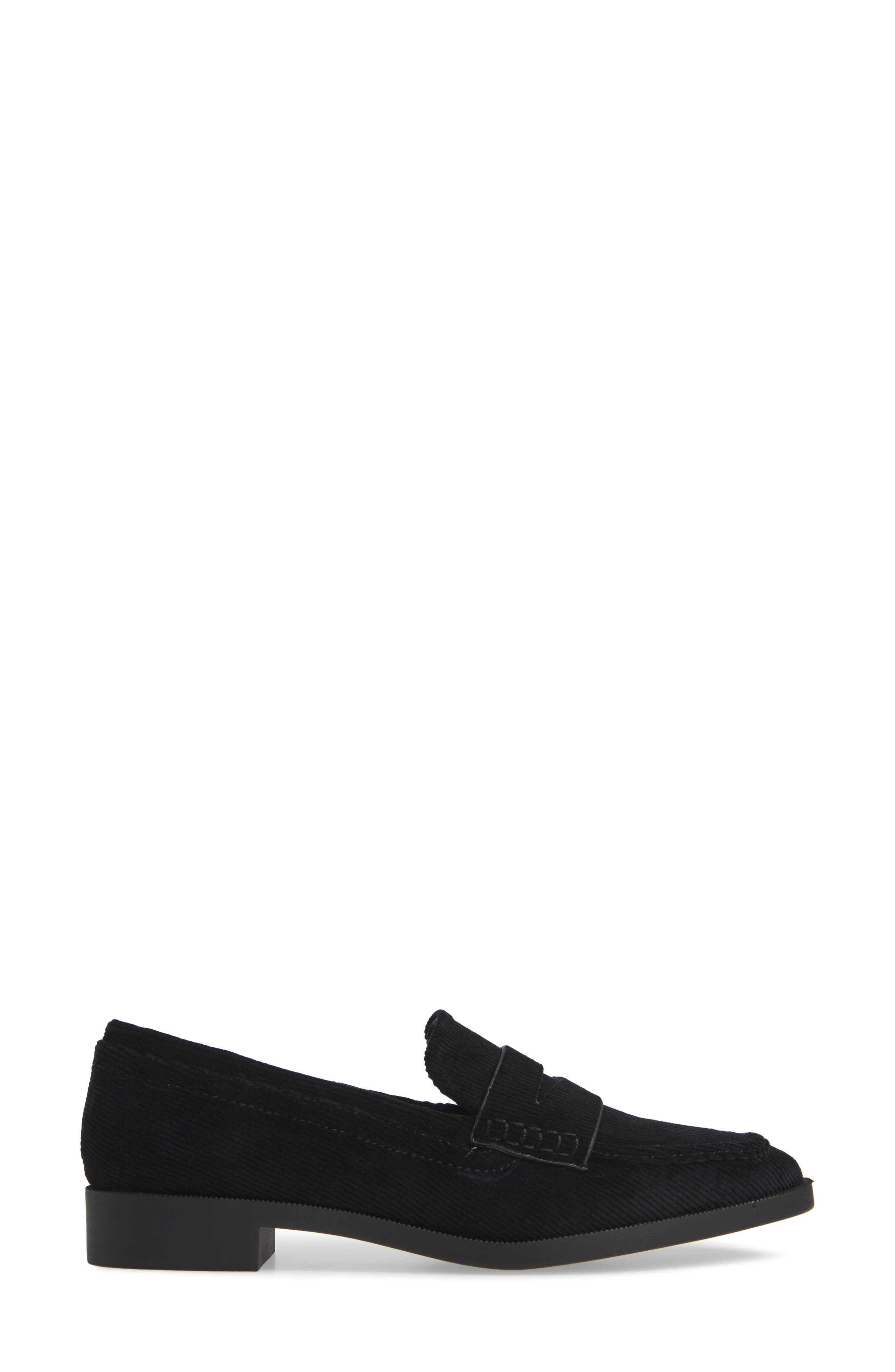 Diplomat Penny Loafer,                             Alternate thumbnail 3, color,                             BLACK FABRIC