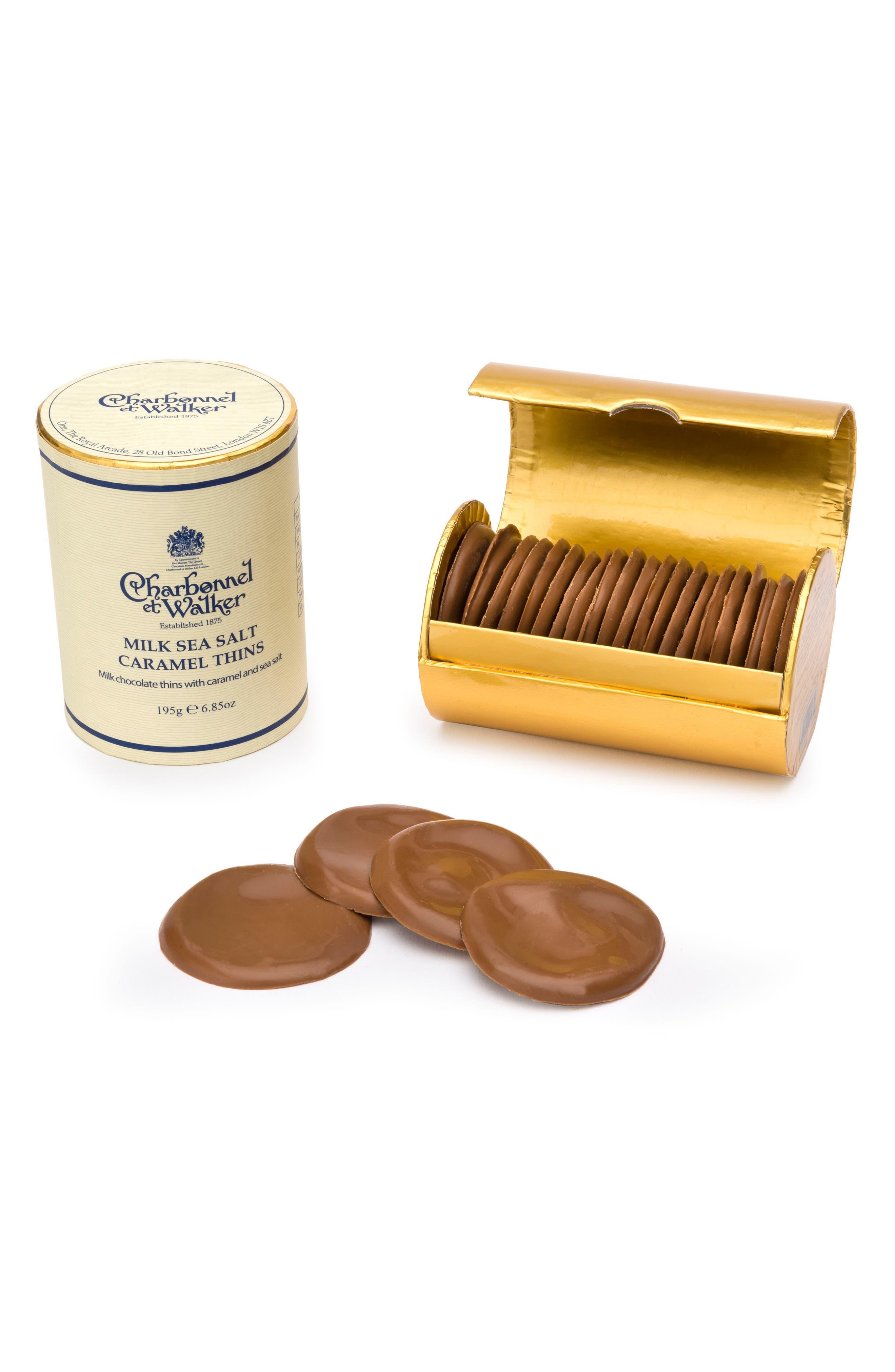 Flavored Chocolate Thins,                             Main thumbnail 1, color,                             MILK/ SEA SALT CARAMEL