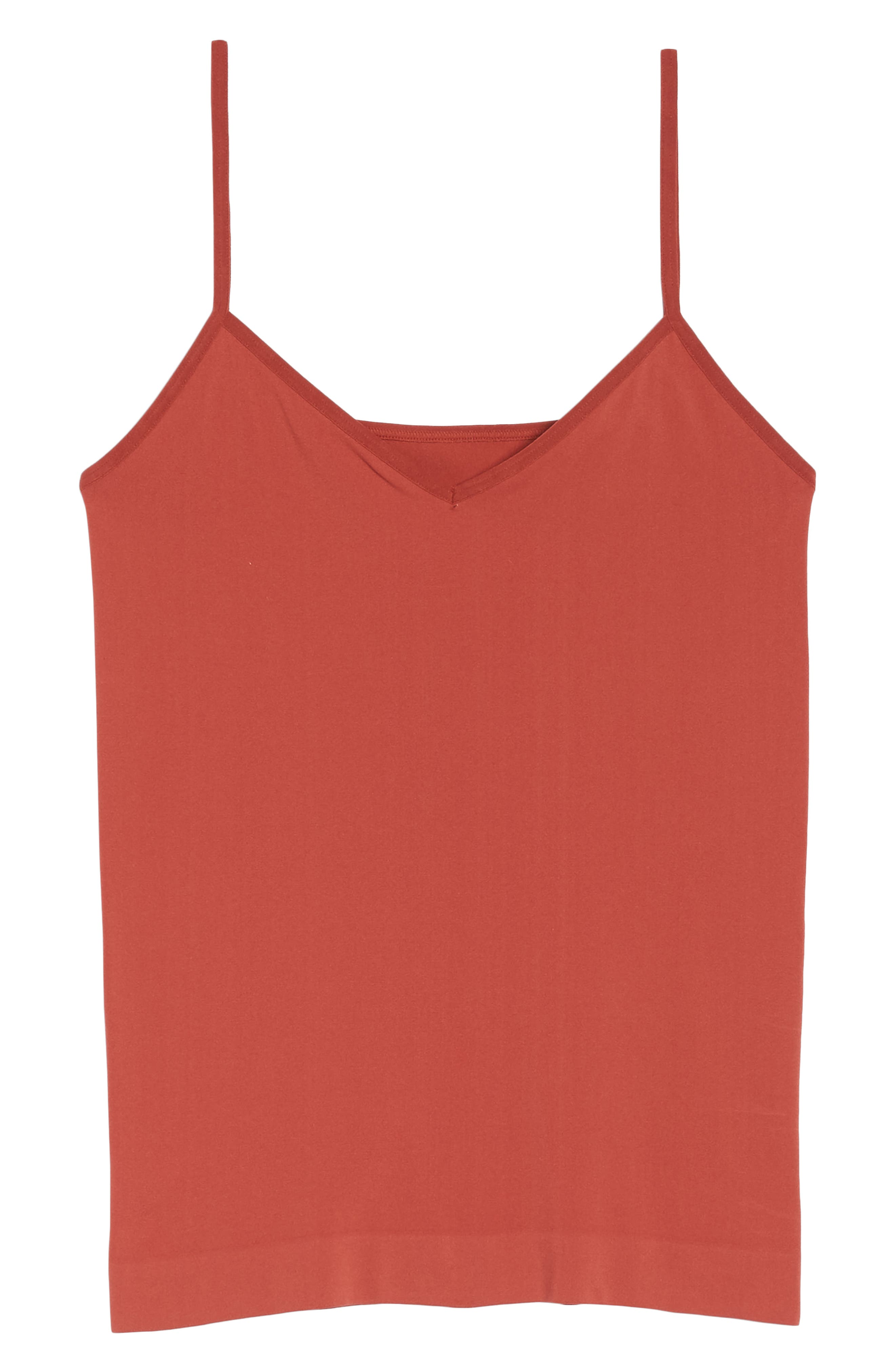 Seamless Two-Way Camisole,                             Alternate thumbnail 7, color,                             RUST SPICE