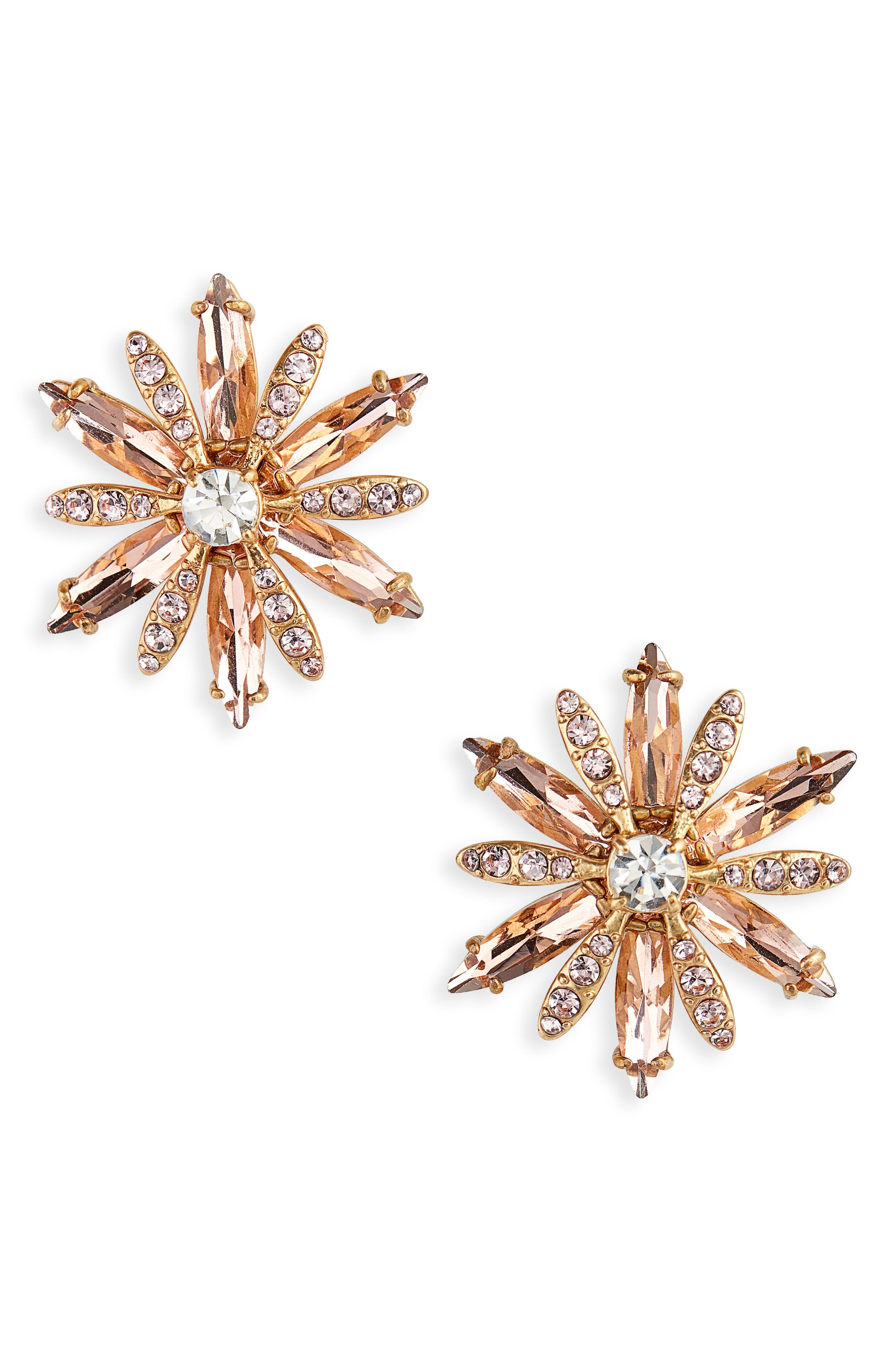 Crystal Cluster Earrings, Main, color, 650