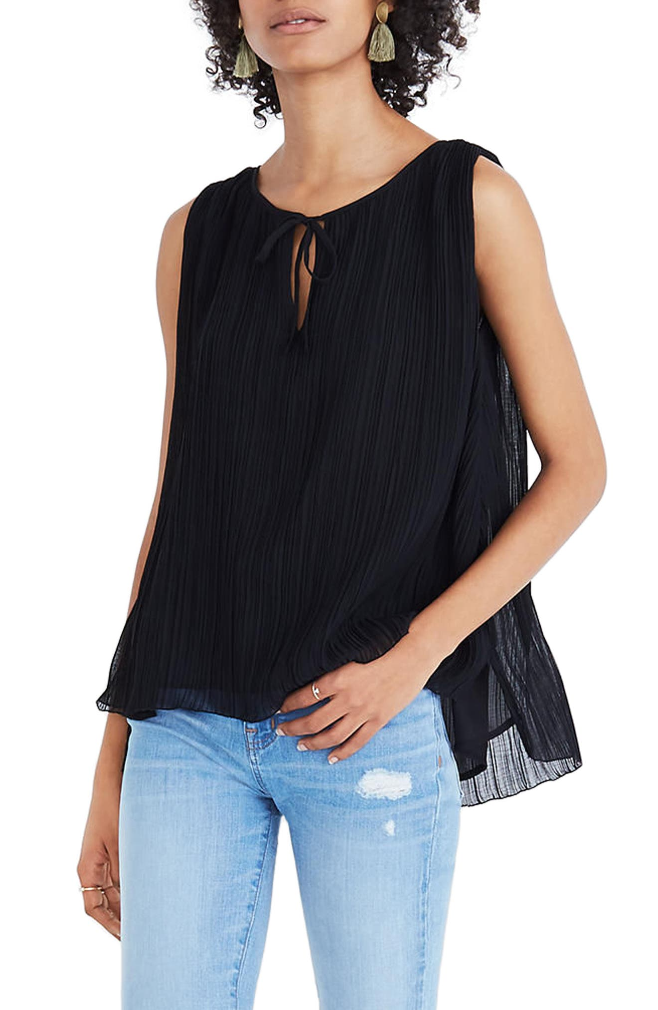 Pleated Tank,                         Main,                         color, 001