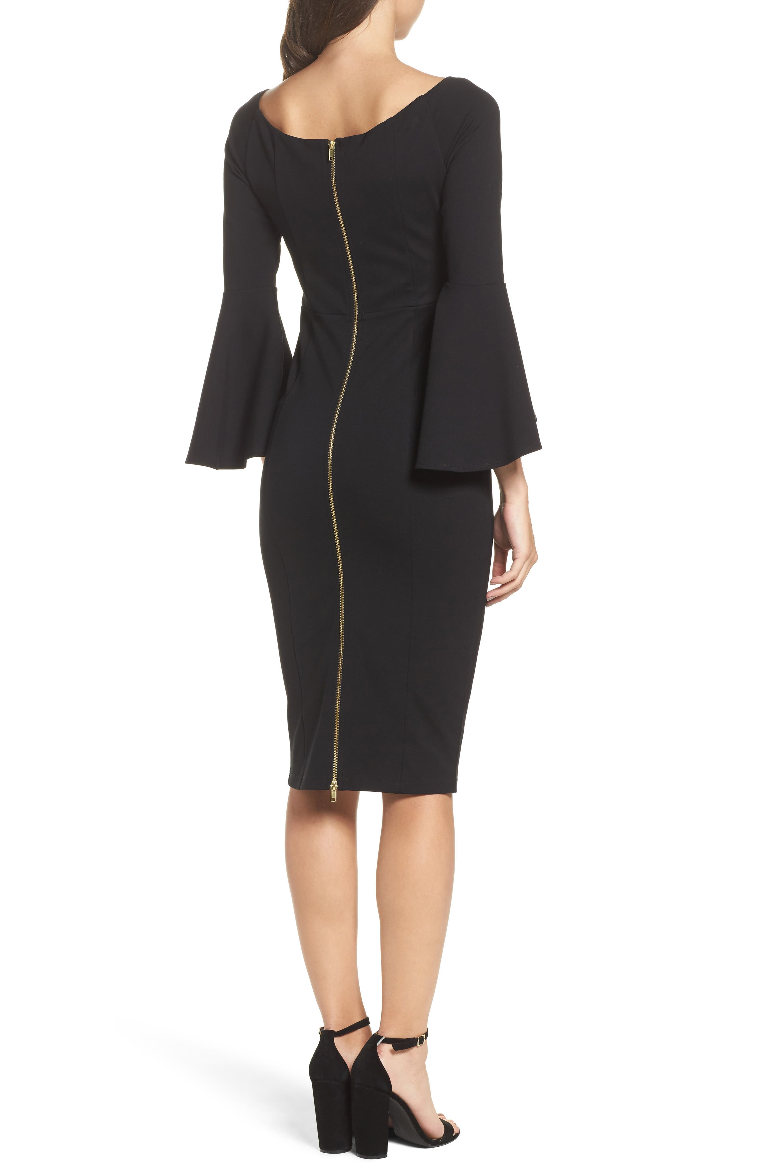 Milly Bell Sleeve Midi Dress,                             Alternate thumbnail 2, color,                             401