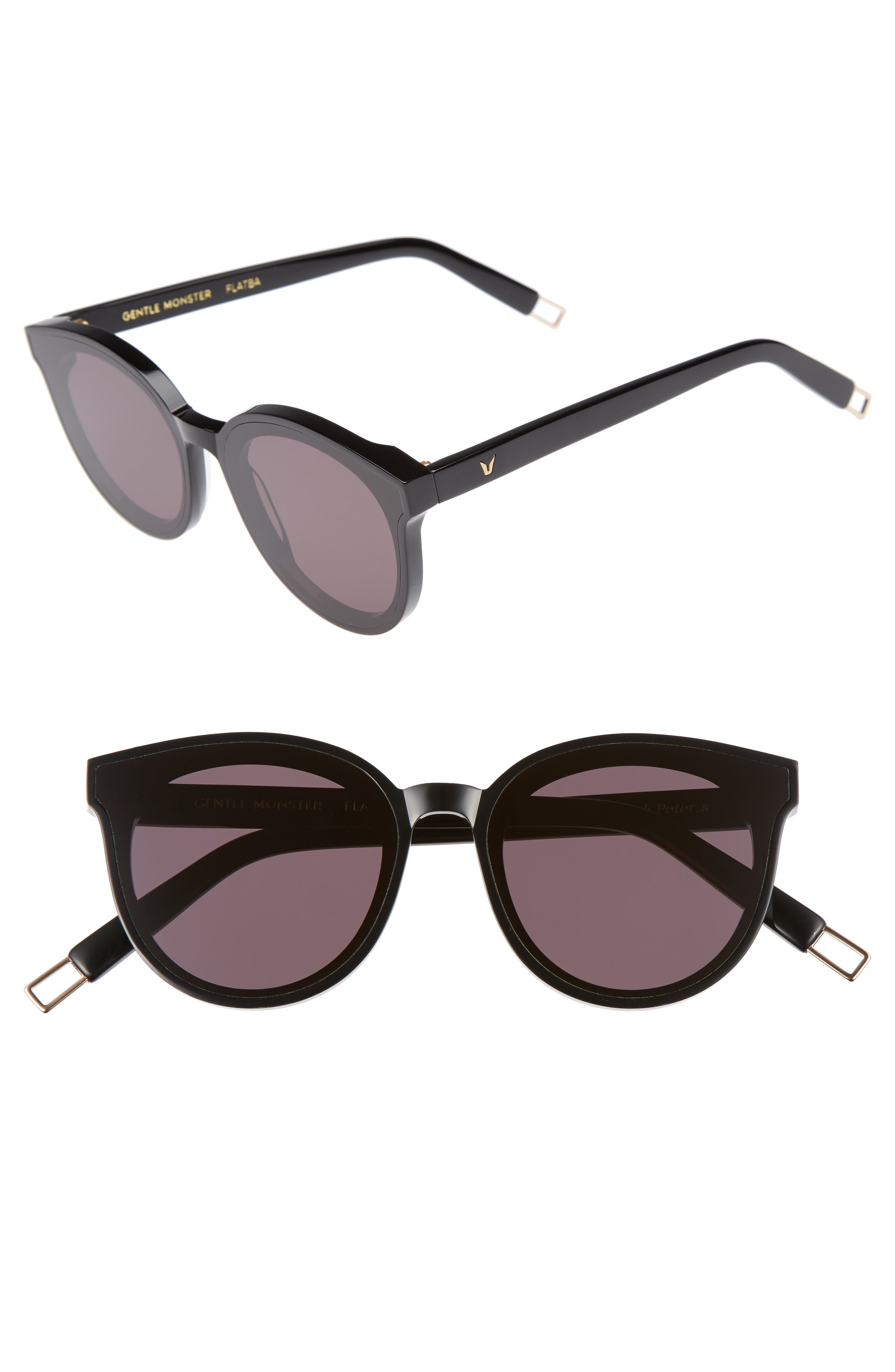 Black Peter 61mm Rounded Sunglasses,                         Main,                         color, 001
