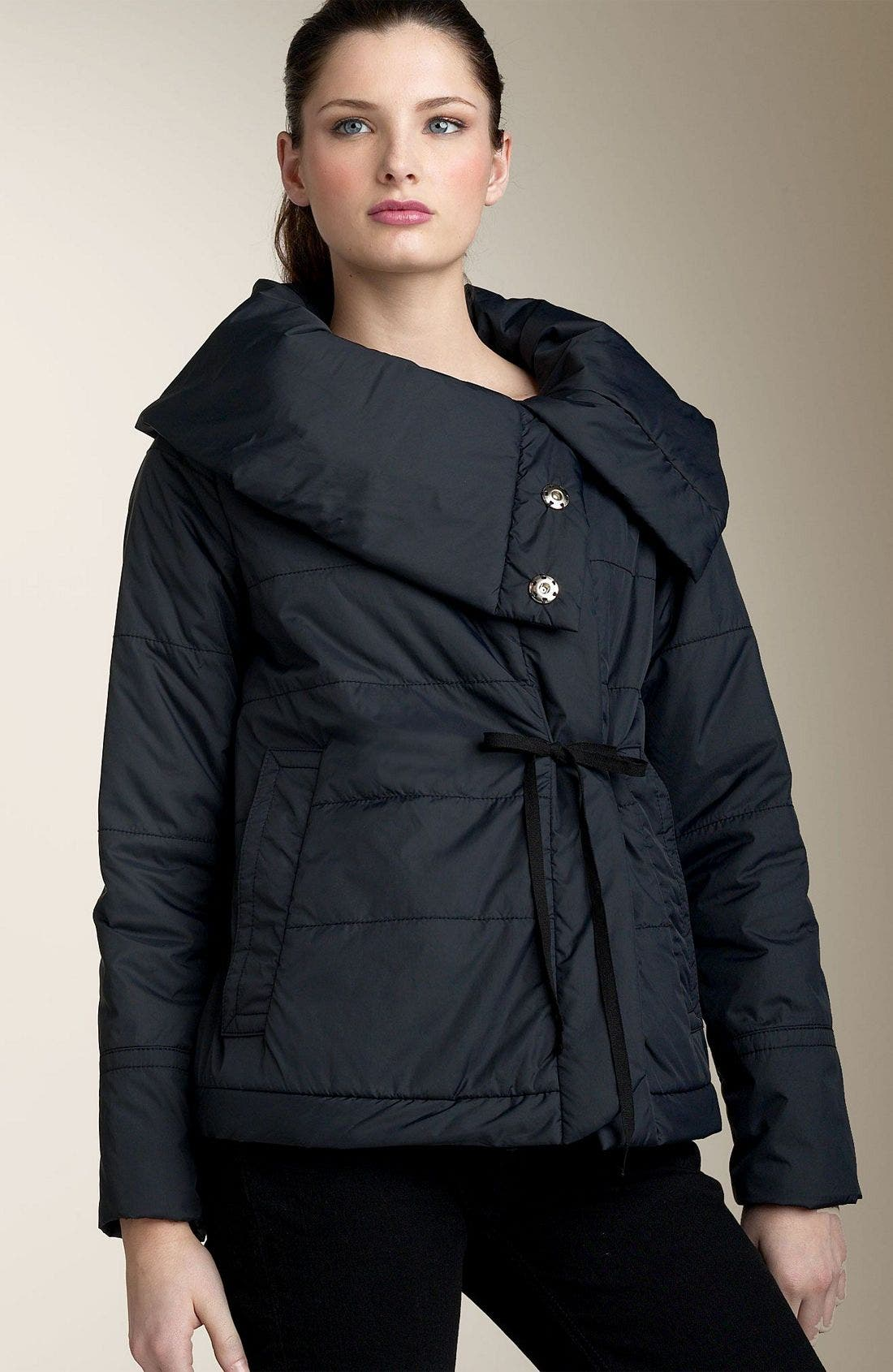 Quilted Nylon Jacket,                             Alternate thumbnail 2, color,                             BLK