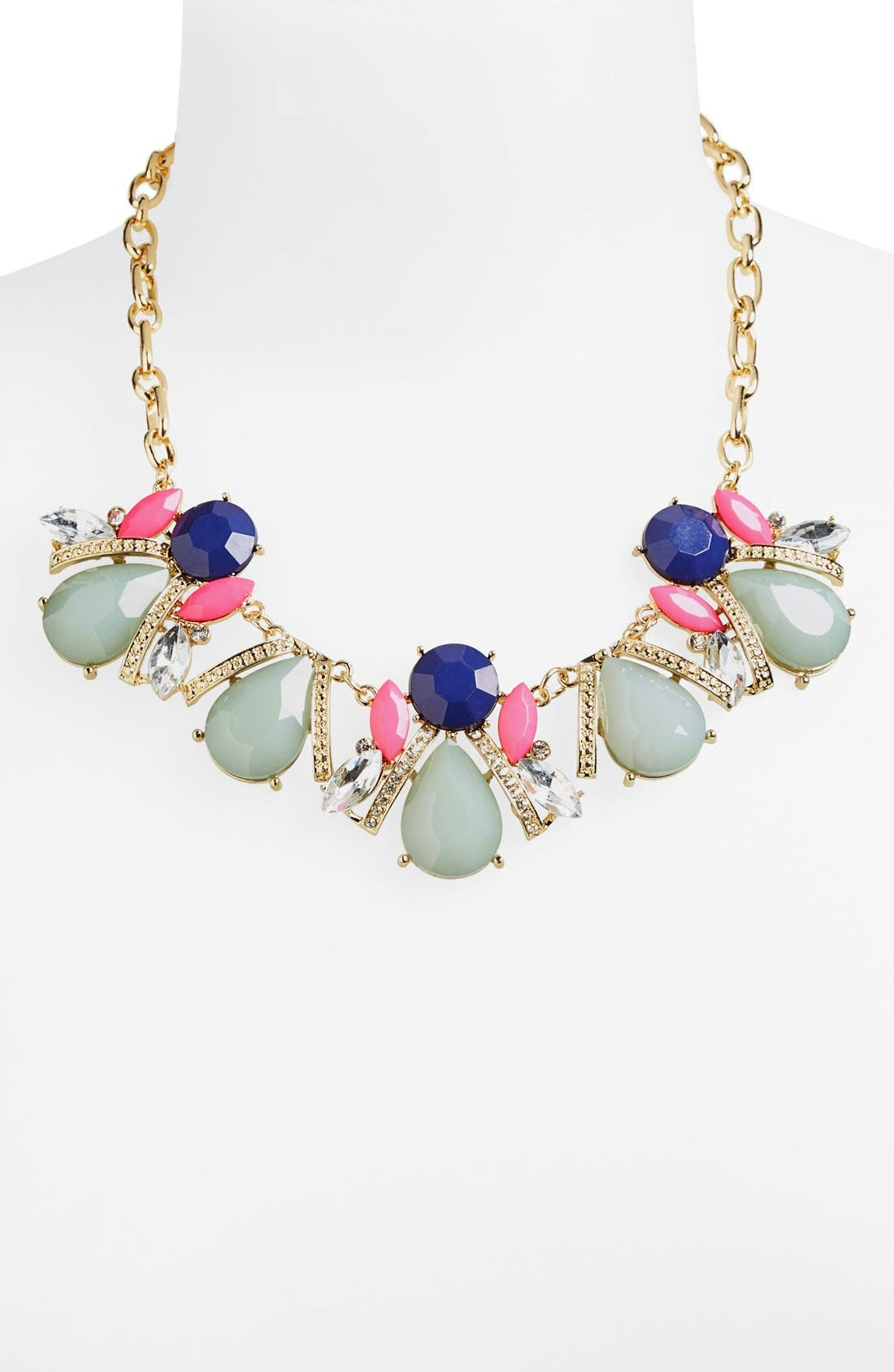 Stone Cluster Frontal Necklace,                             Alternate thumbnail 2, color,                             960