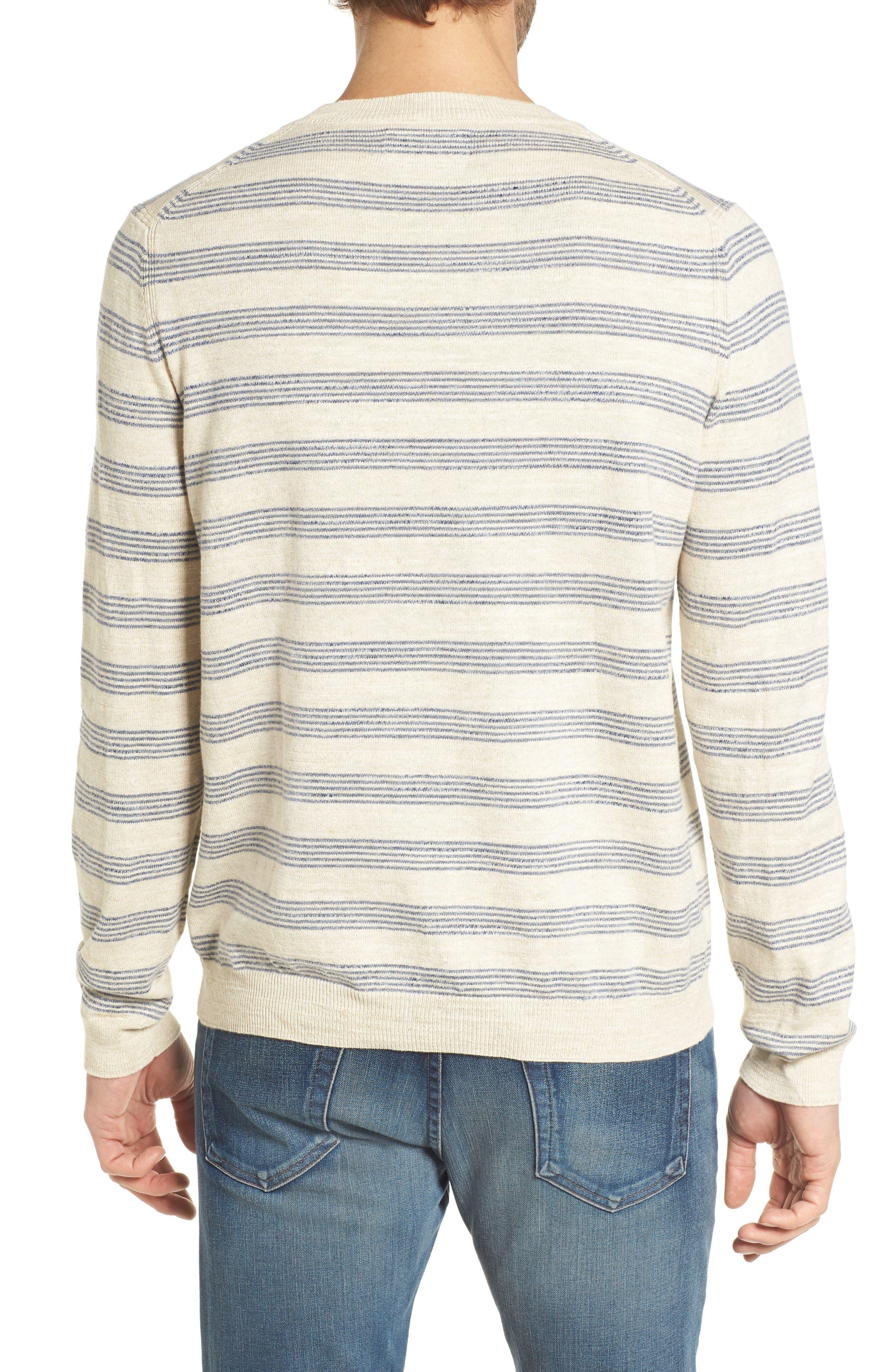 Stripe Cotton Sweater,                             Alternate thumbnail 2, color,                             900