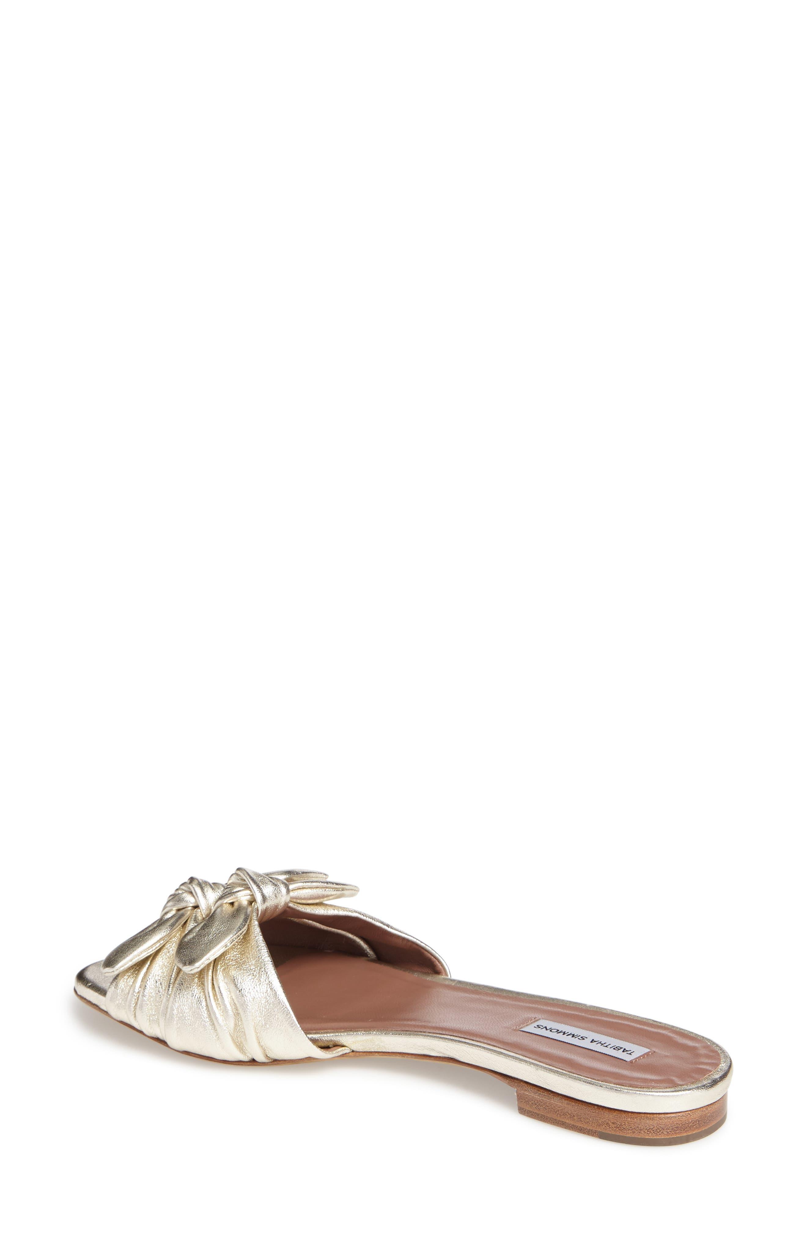Cleo Knotted Bow Slide Sandal,                             Alternate thumbnail 2, color,                             040