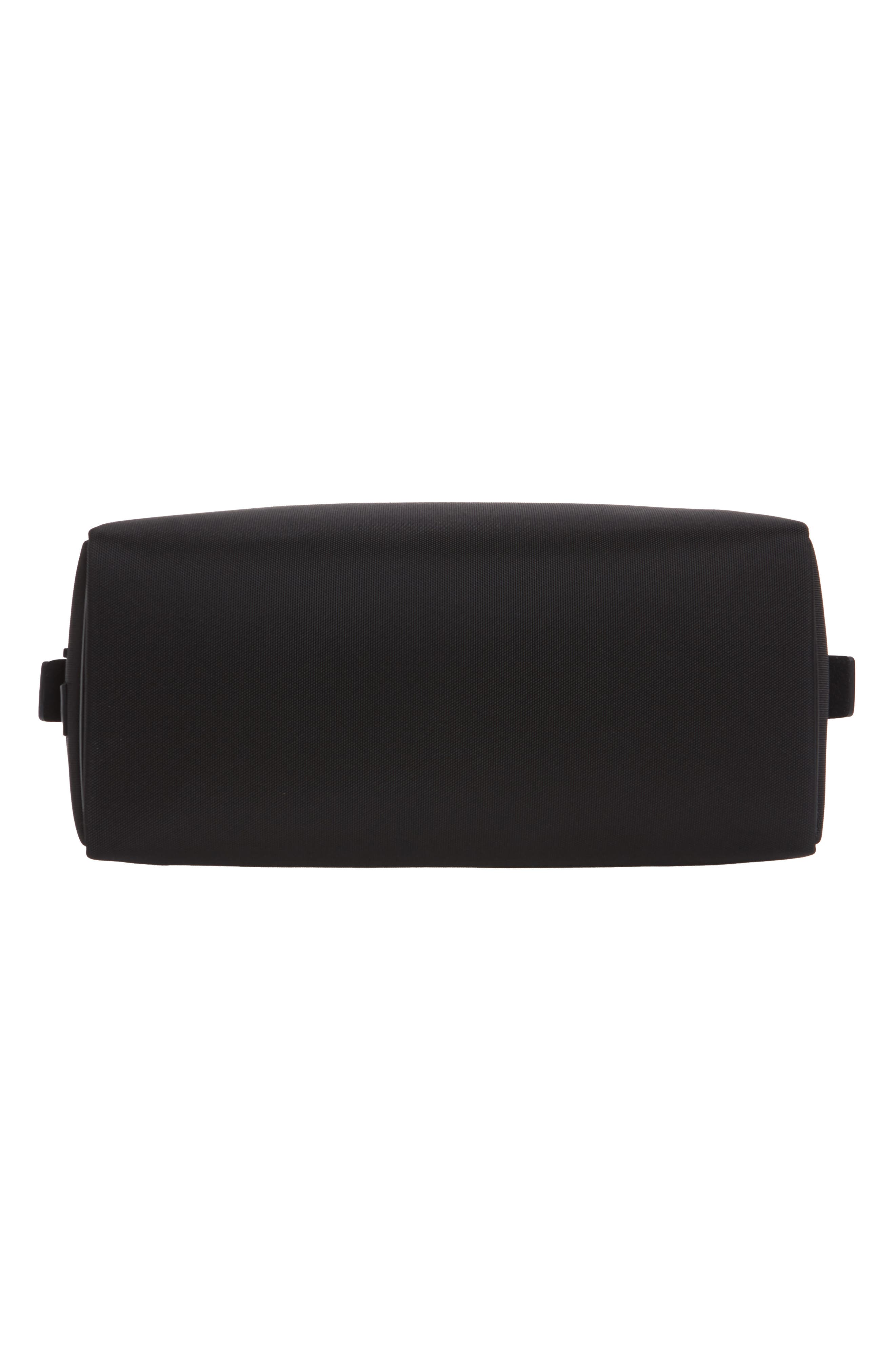 Nylon Dopp Kit,                             Alternate thumbnail 6, color,                             BLACK NYLON/ BLACK LEATHER