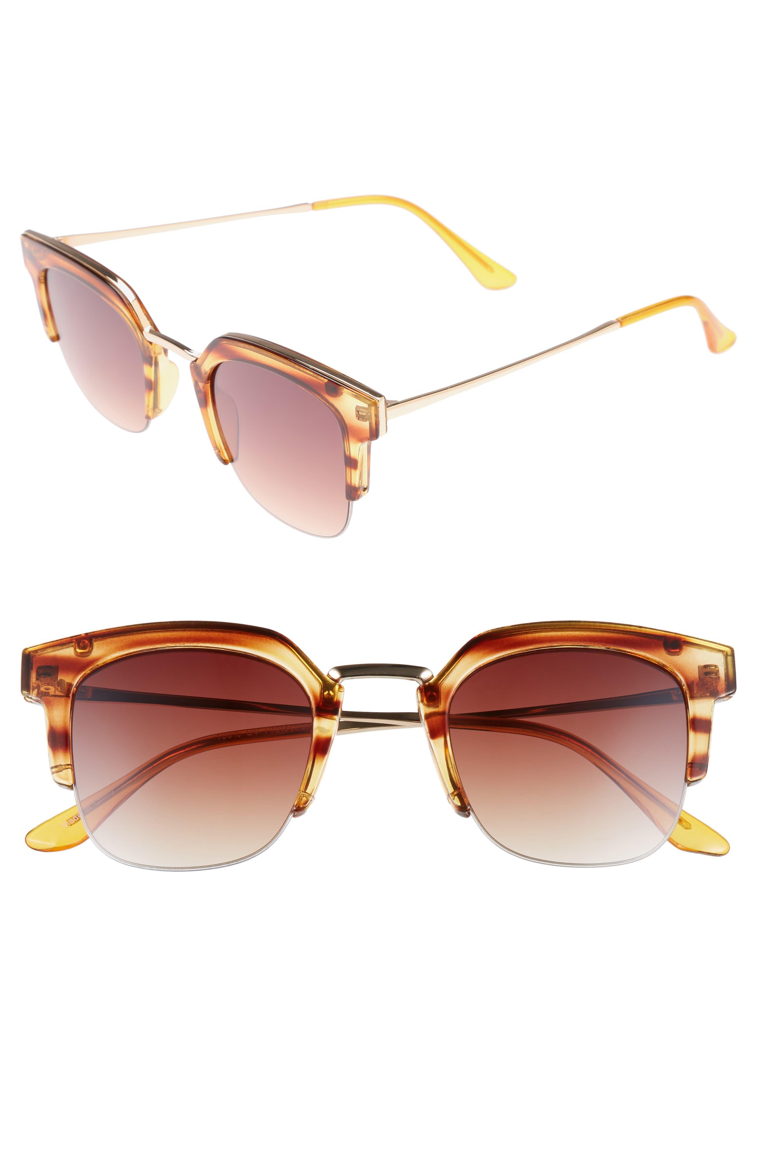 47mm Retro Sunglasses,                         Main,                         color, 200
