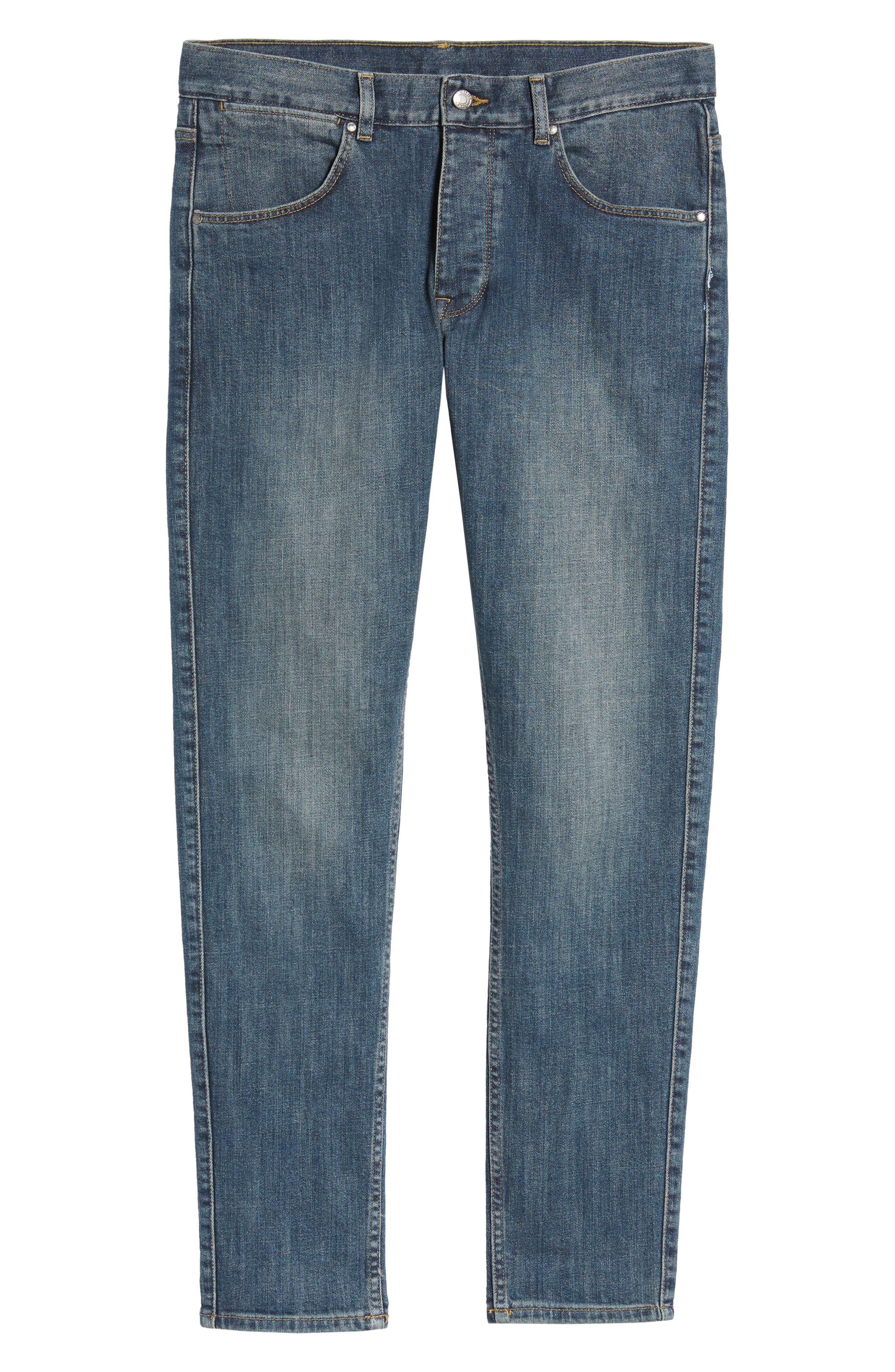 Clark Slim Straight Leg Jeans,                             Alternate thumbnail 6, color,                             400