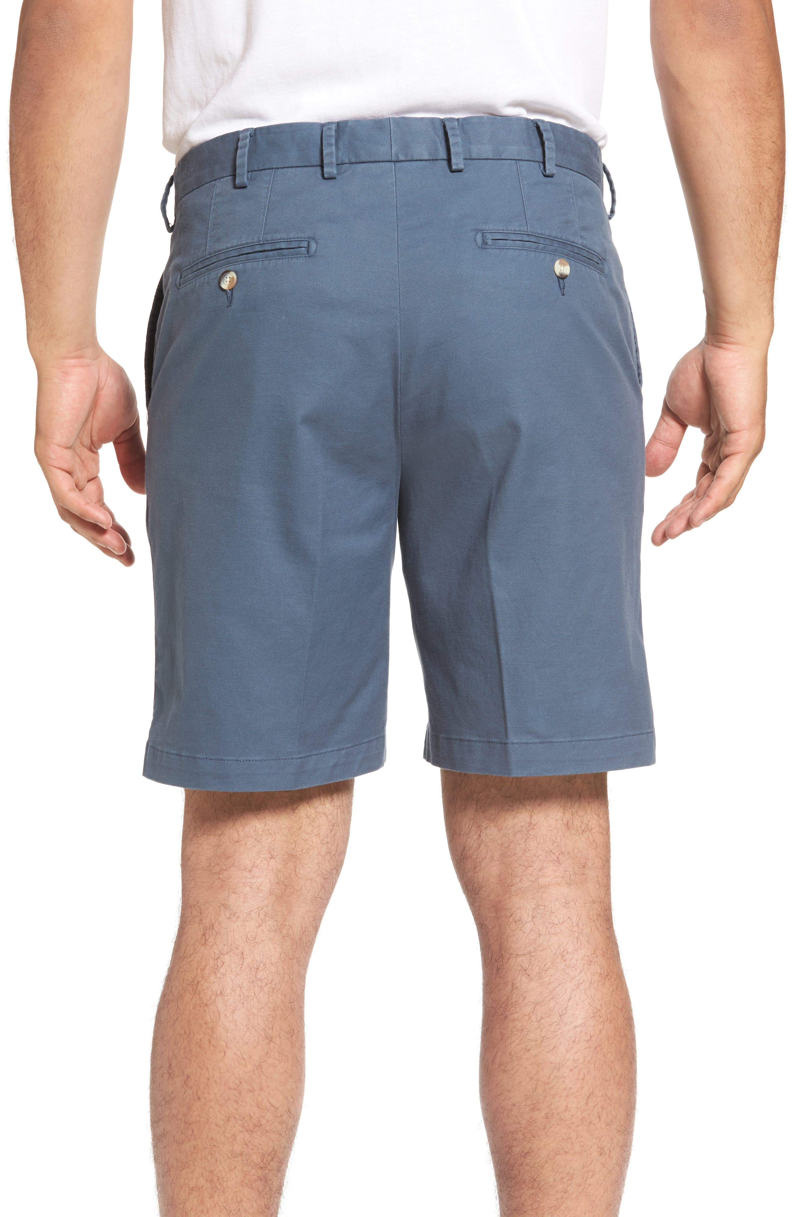 Soft Touch Stretch Twill Shorts,                             Alternate thumbnail 2, color,                             NAVY