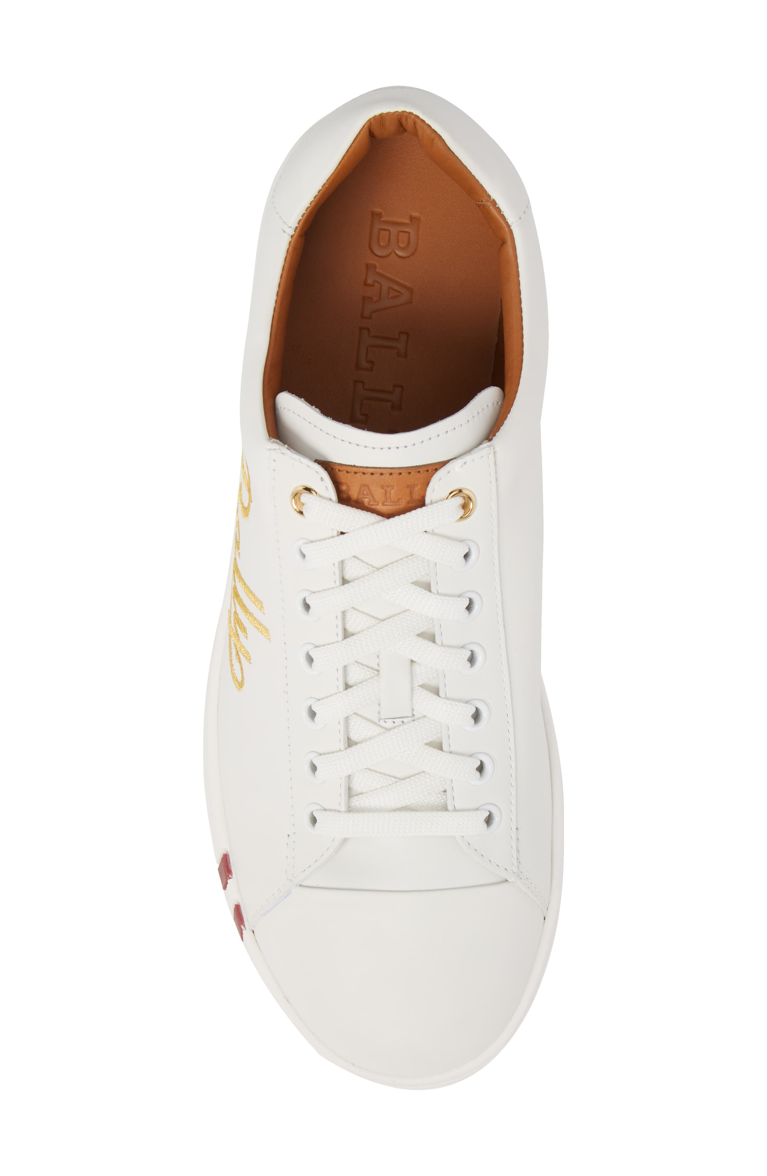 Winston Low Top Sneaker,                             Alternate thumbnail 5, color,                             WHITE