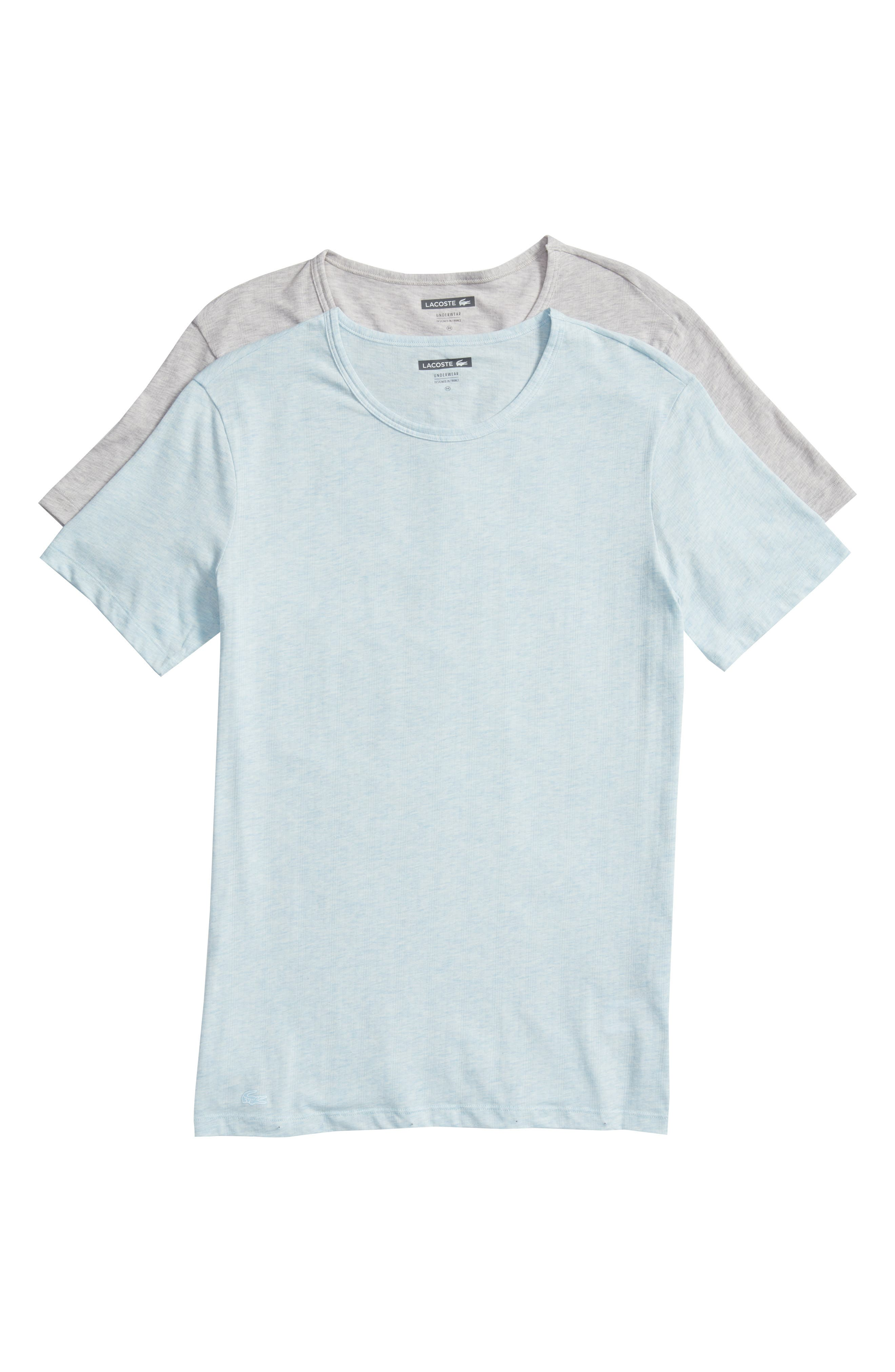 2-Pack Superfine Crewneck T-Shirts,                             Alternate thumbnail 6, color,                             GREY/ BLUE HEATHER