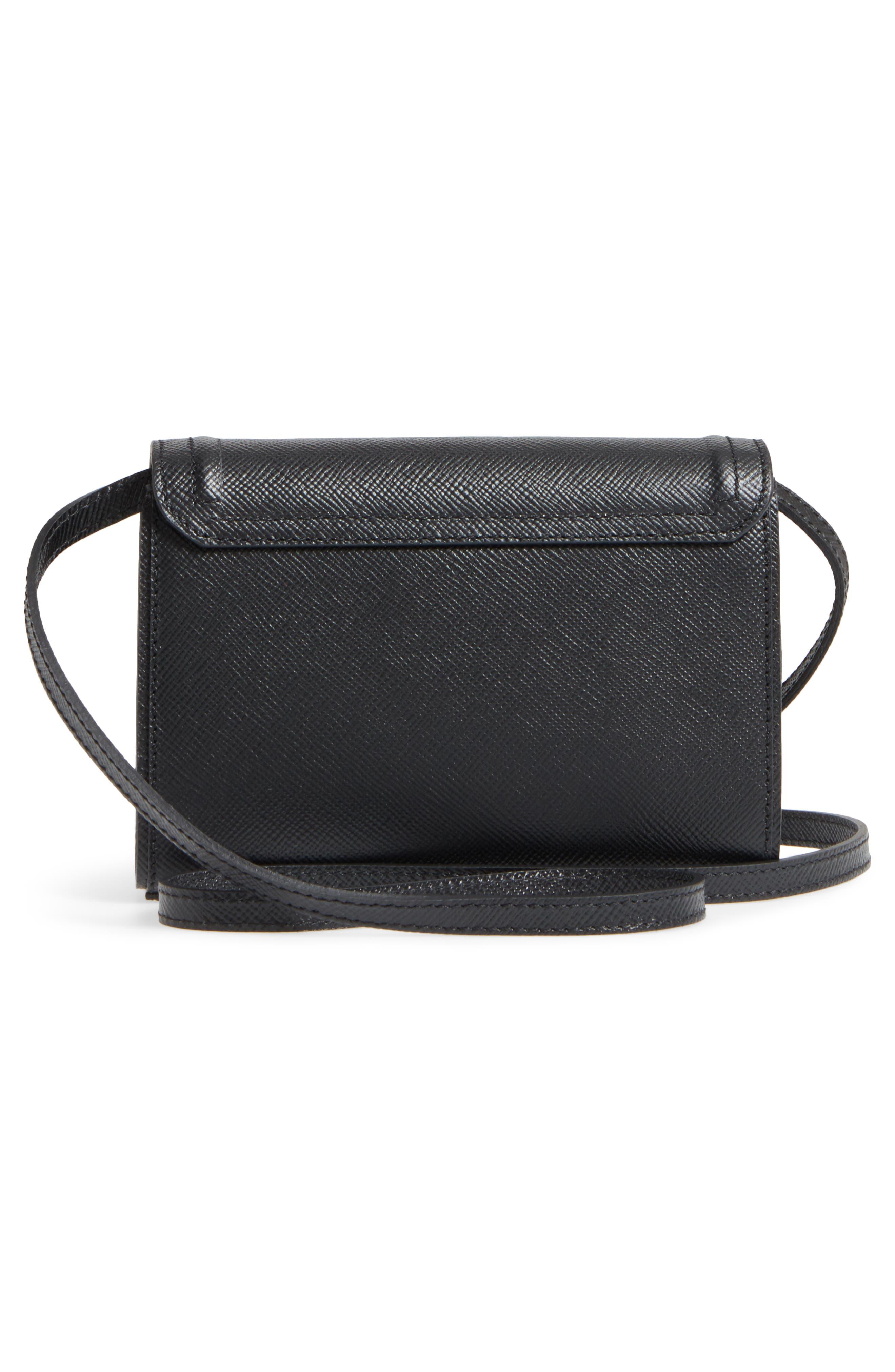 Mini Ilenea Leather Crossbody Bag,                             Alternate thumbnail 4, color,                             001