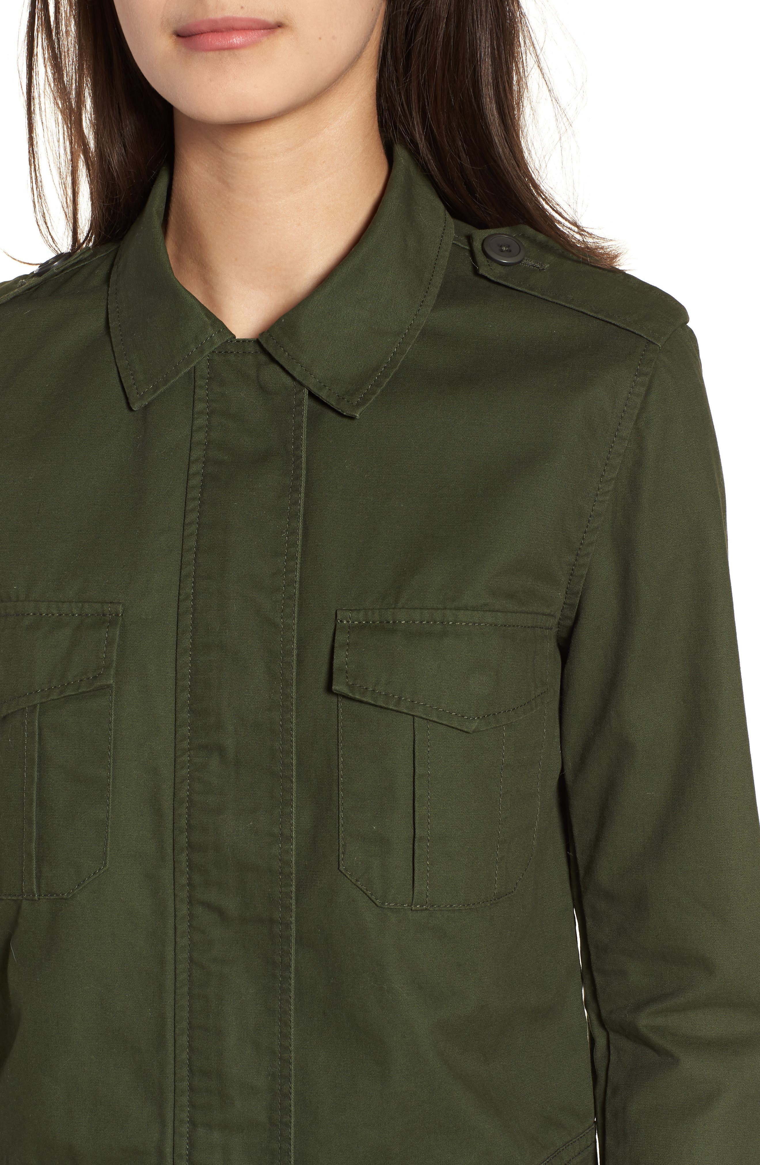Maddox Cotton Twill Army Jacket,                             Alternate thumbnail 4, color,                             301