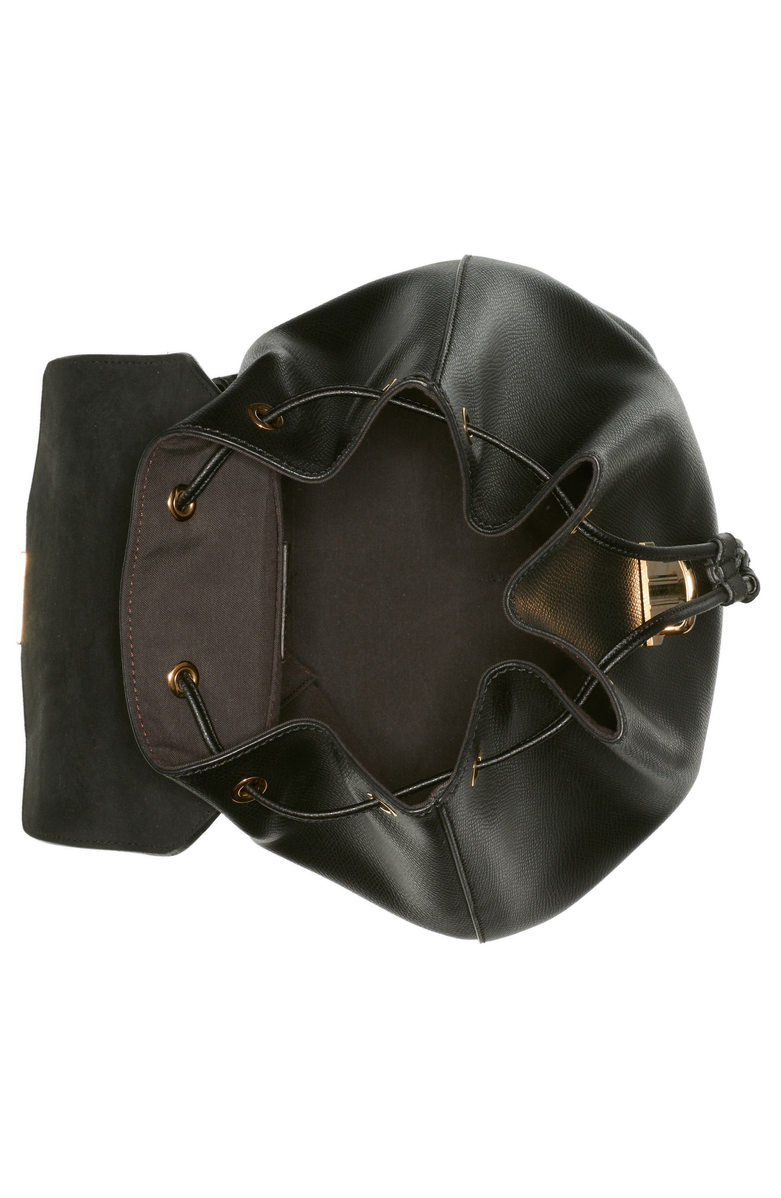 Cruise Calfskin Leather Backpack,                             Alternate thumbnail 3, color,                             006