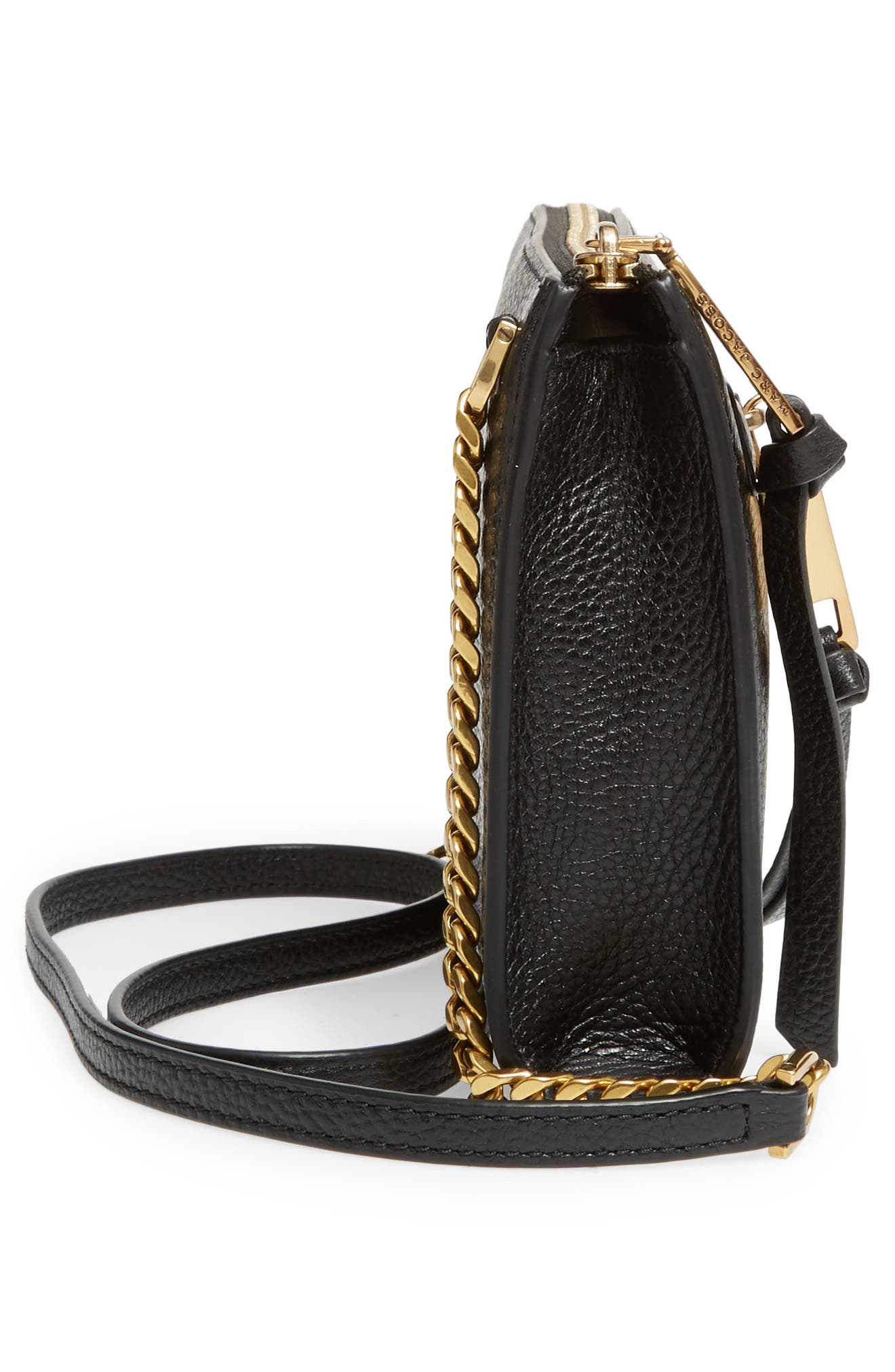Small Recruit Leather Crossbody Bag,                             Alternate thumbnail 5, color,                             001