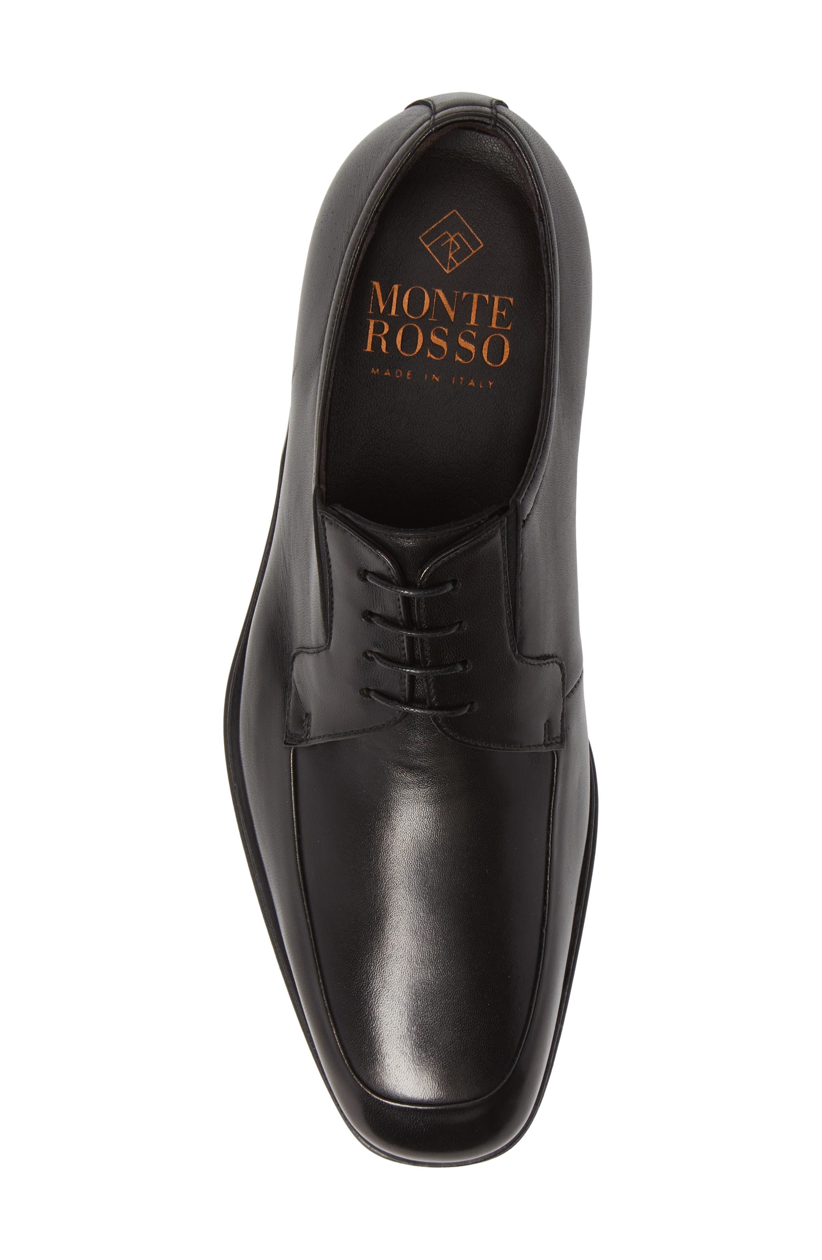 MONTE ROSSO,                             Montre Rosso Patrizio Apron Toe Derby,                             Alternate thumbnail 5, color,                             001