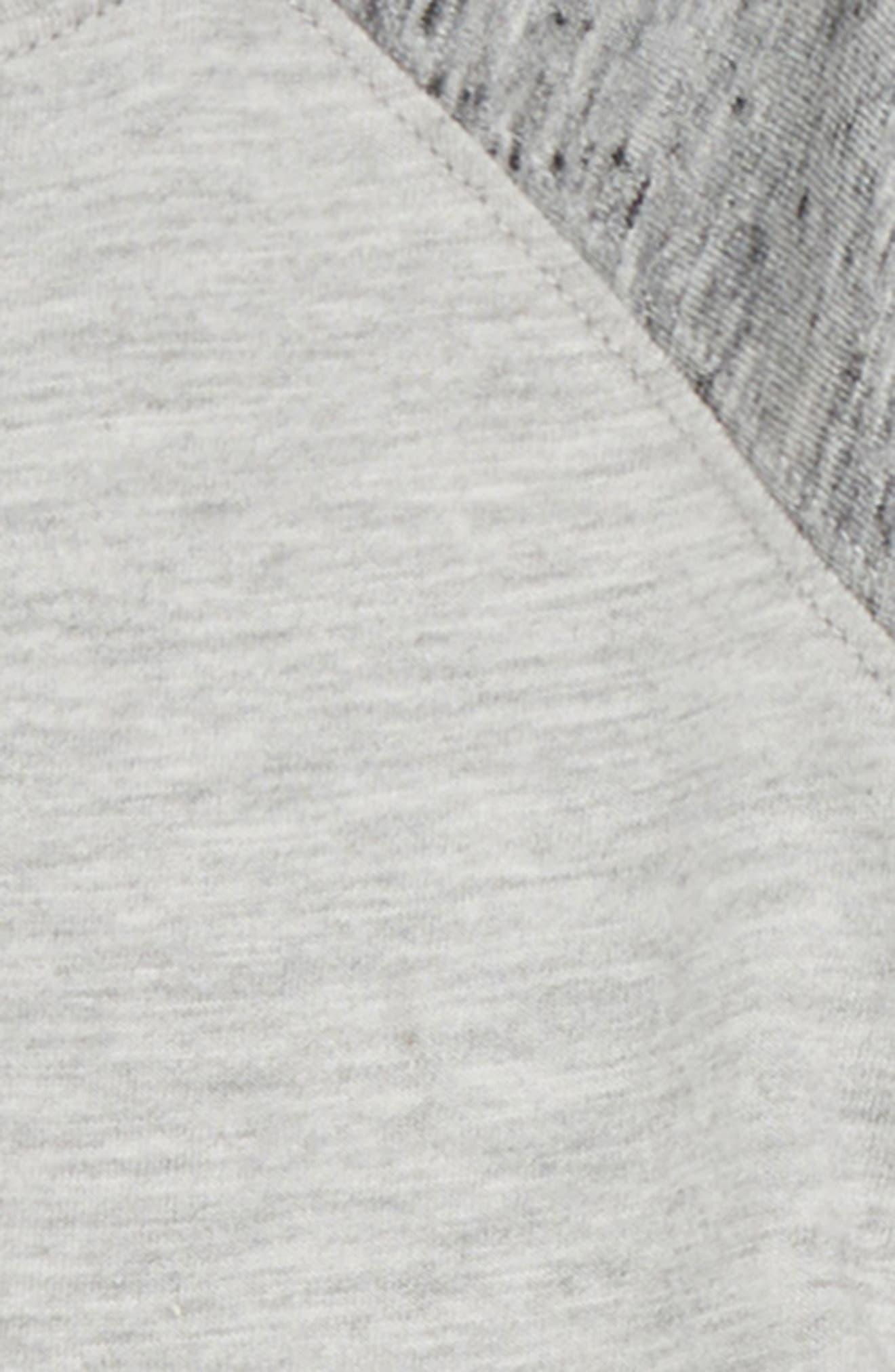 Raglan T-Shirt & Sweatpants Set,                             Alternate thumbnail 3, color,                             LIGHT GREY HEATHER 051
