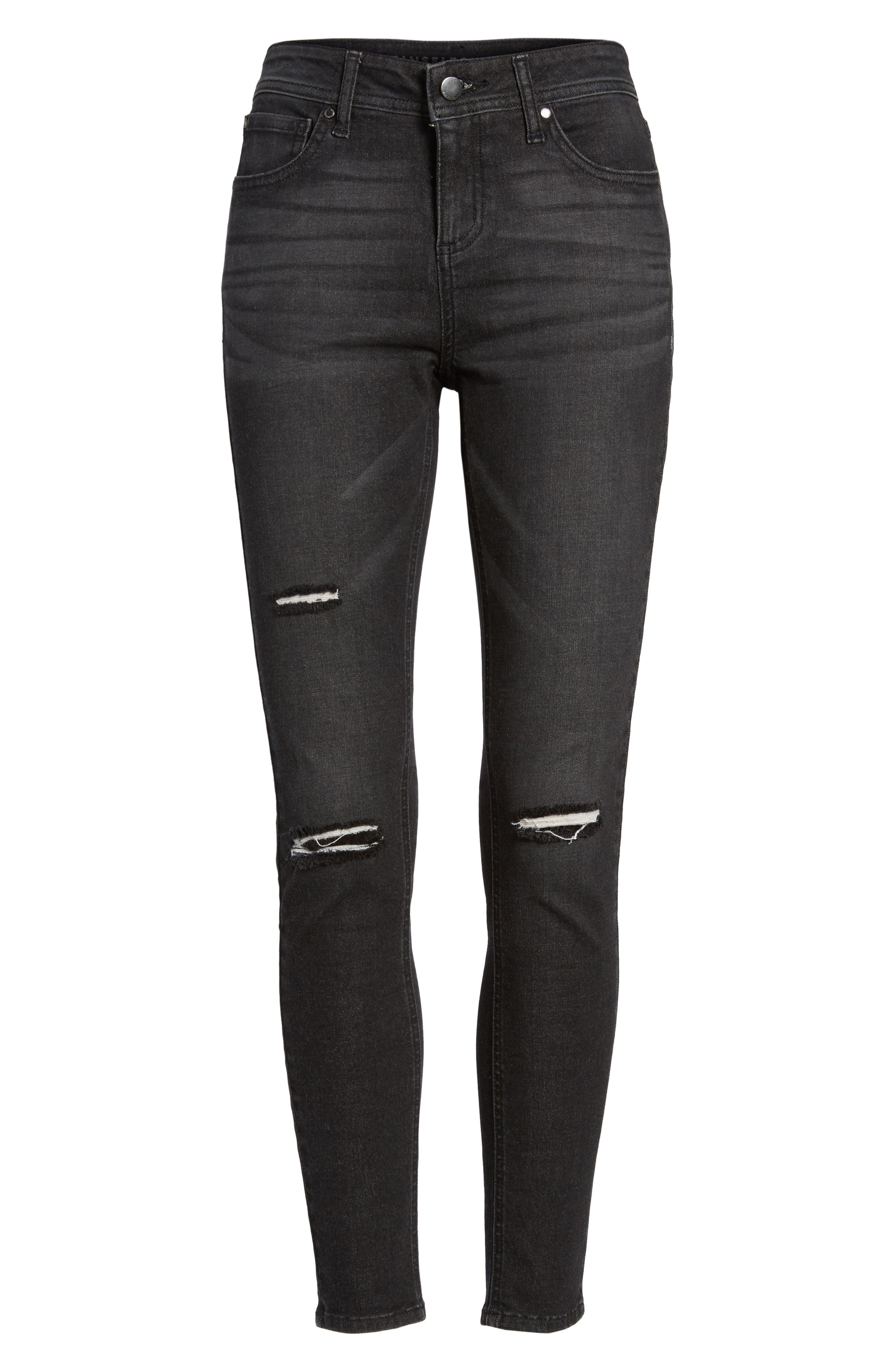Ripped Skinny Jeans,                             Alternate thumbnail 6, color,                             001
